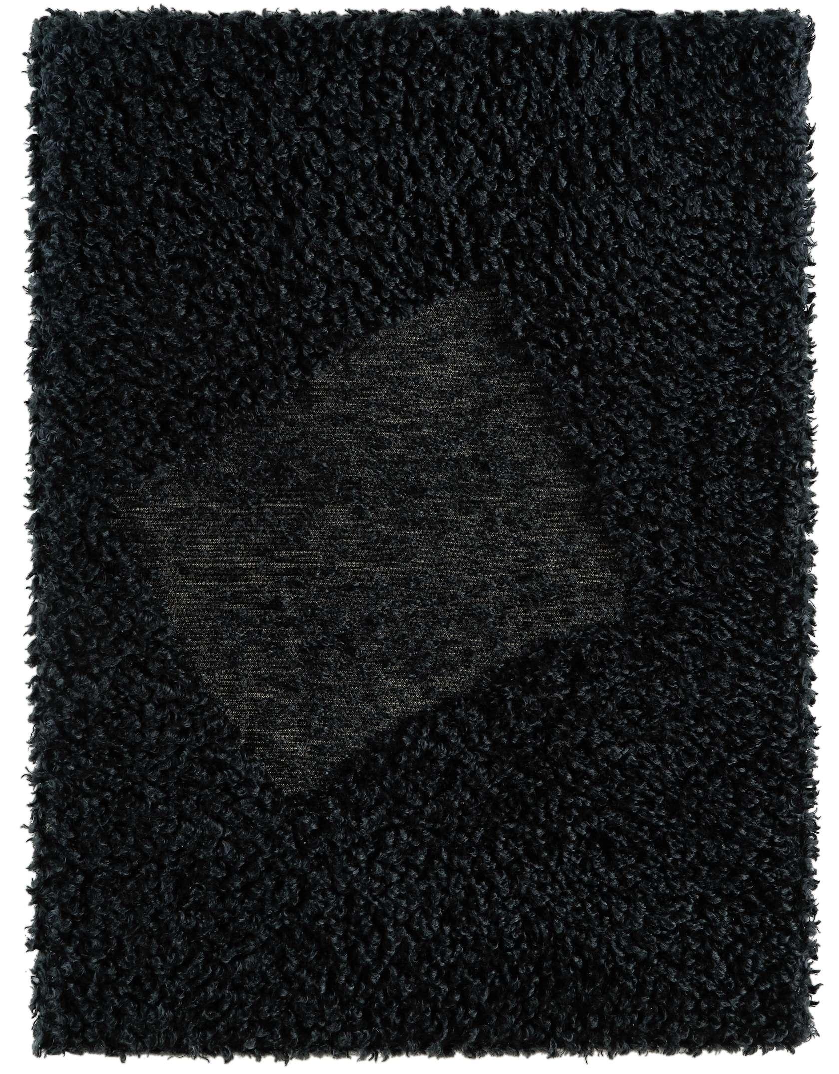 Présence Panchounette, Rasé tondu ou toile caniche, 1983 Moquette rasée tendue sur chassis75 × 56 cm / 29 1/2 × 22  in.