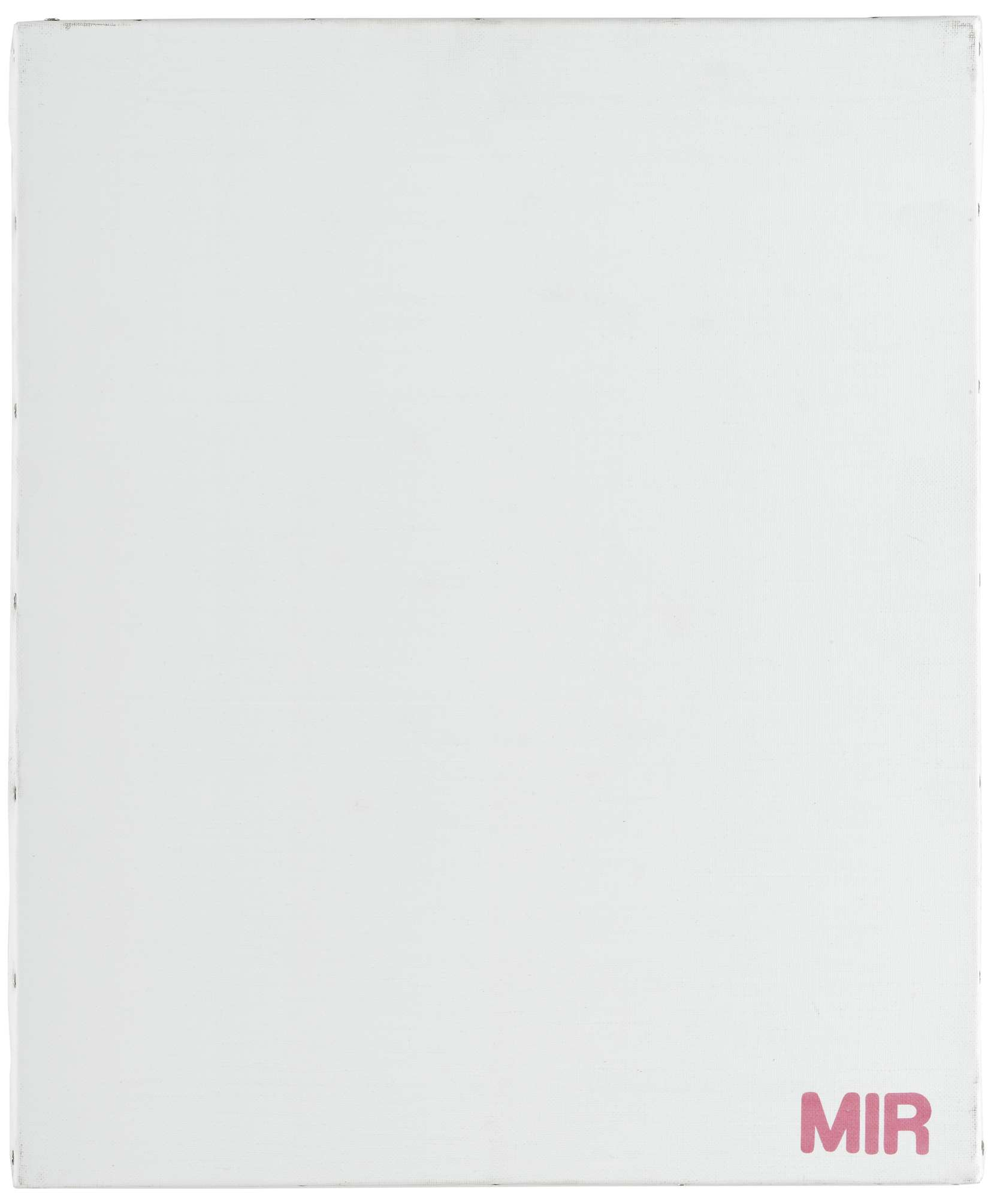 Présence Panchounette, Monochrome lessive (Mir), 1988 Acrylique et décalcomanie sur toile46 × 38 cm / 18 1/8 × 15  in.