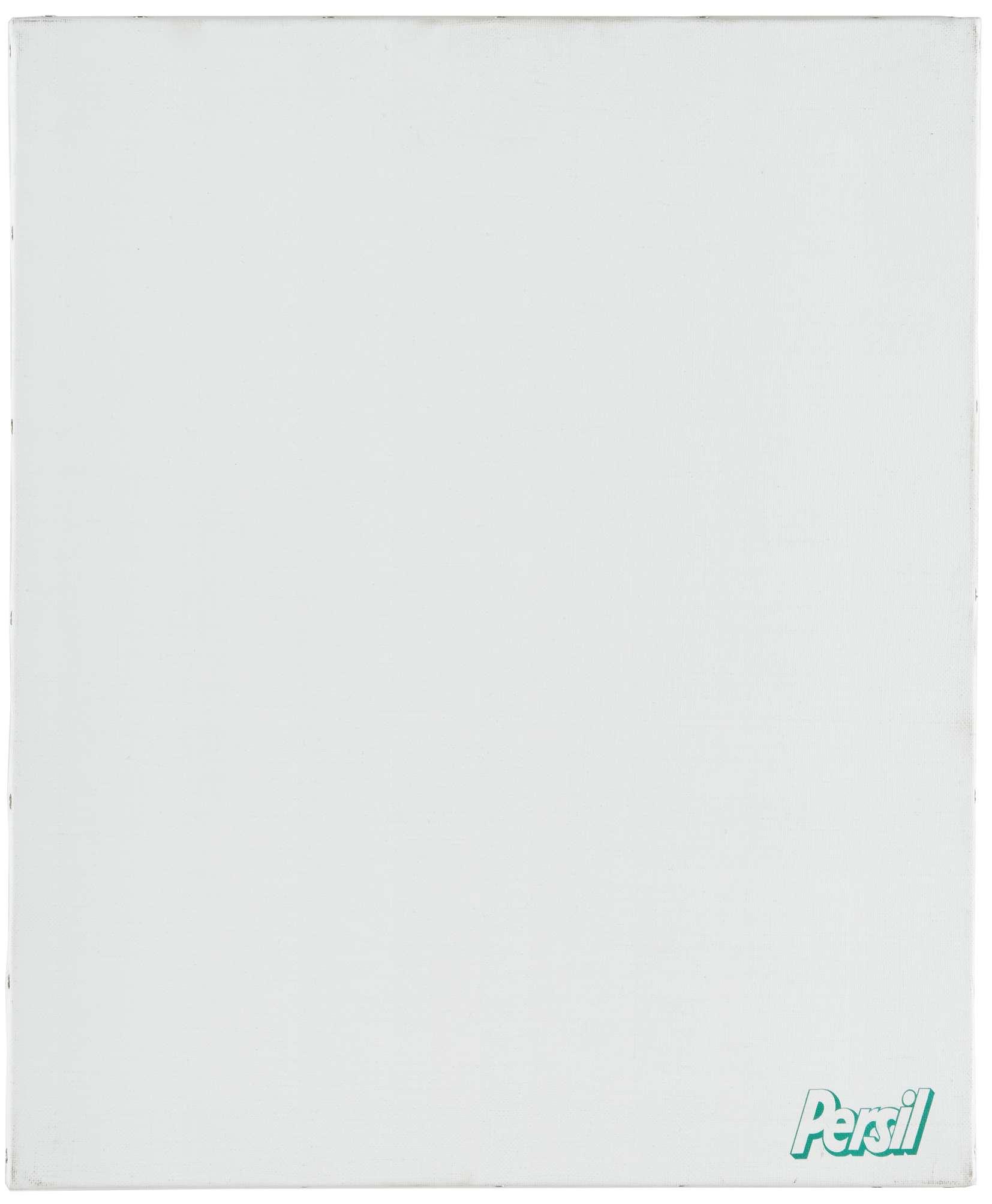 Présence Panchounette, Monochrome lessive (Persil), 1988 Acrylique et décalcomanie sur toile46 × 38 cm / 18 1/8 × 15  in.