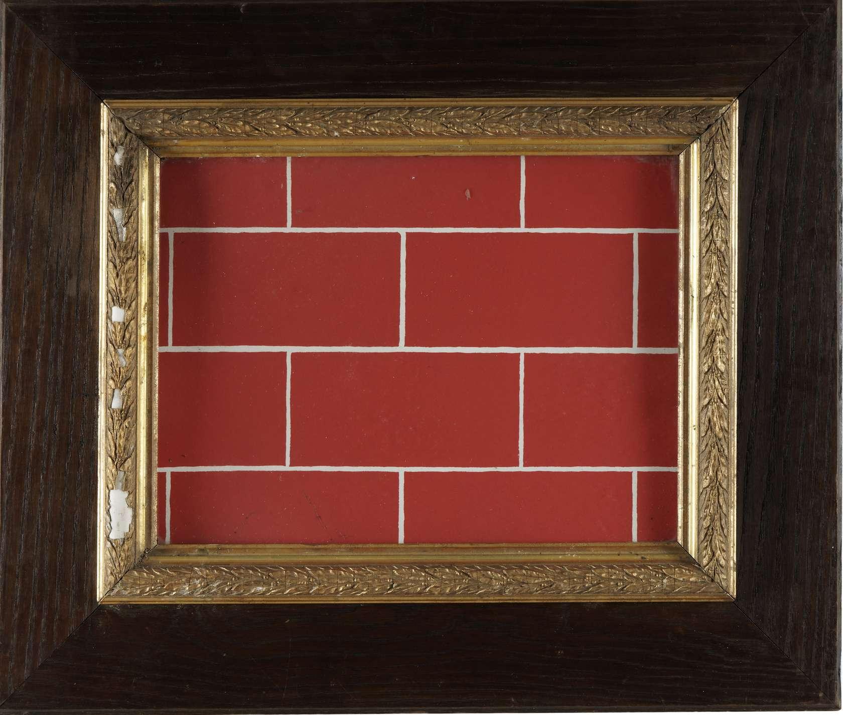 Présence Panchounette, Sérigraphie fausse brique, 1978 Sérigraphie encadrée35.5 × 40 cm / 14  × 15 3/4 in.