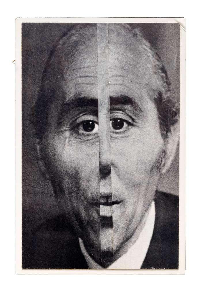 Roman Cieslewicz, Alain Bernardin, directeur du Crazy Horse, 1969 Collage centré20.5 x 13 cm / 8 1/8 x 5 1/8 inches