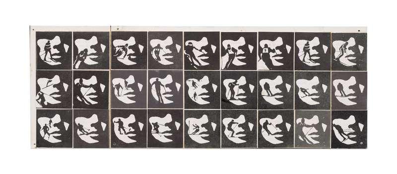 Roman Cieslewicz, Visage avec skieur, 1968 Collage répétitif10 x 28.5 cm / 3 7/8 x 11 2/8 inches