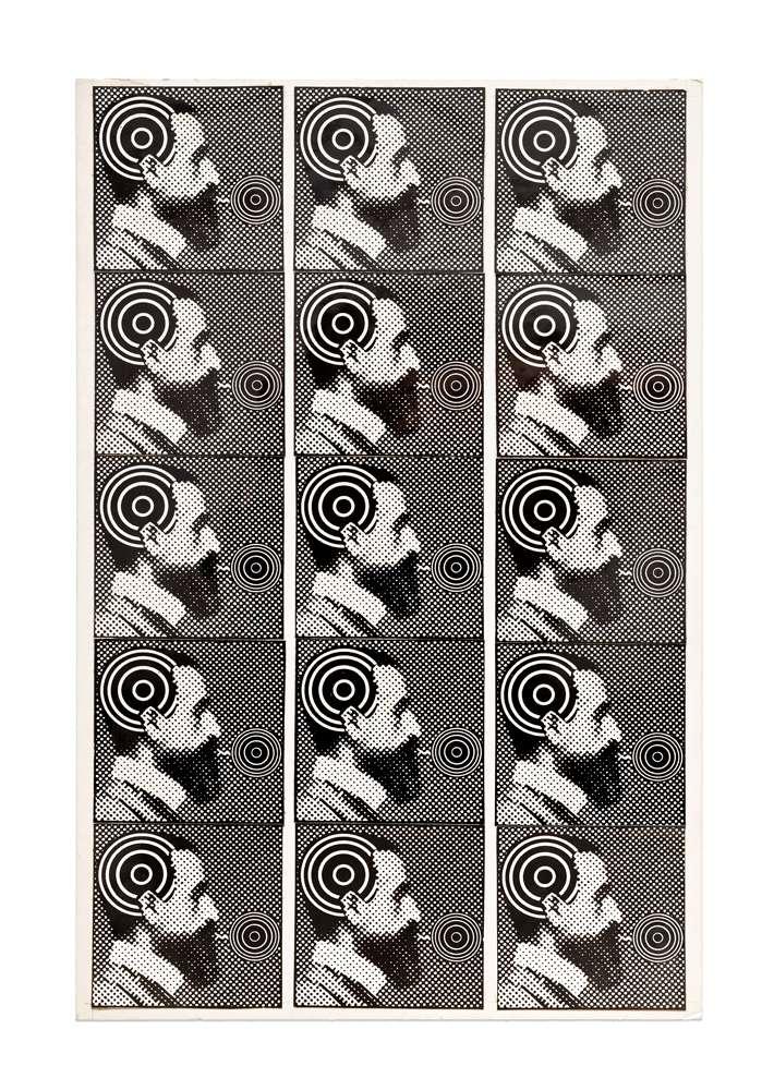 Roman Cieslewicz, Le Magicien, 1965 Collage répétitif27 x 18 cm / 10 5/8 x 7 1/8 inches