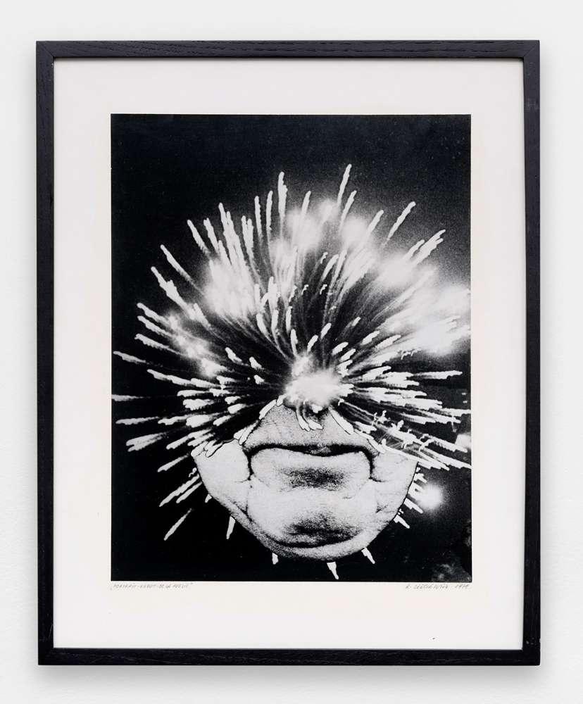 Roman Cieslewicz, Portrait robot de la Poésie, 1978 Photo de photomontage - Tirage noir et blanc39 × 30 cm / 15 3/8 × 11 6/8 in.