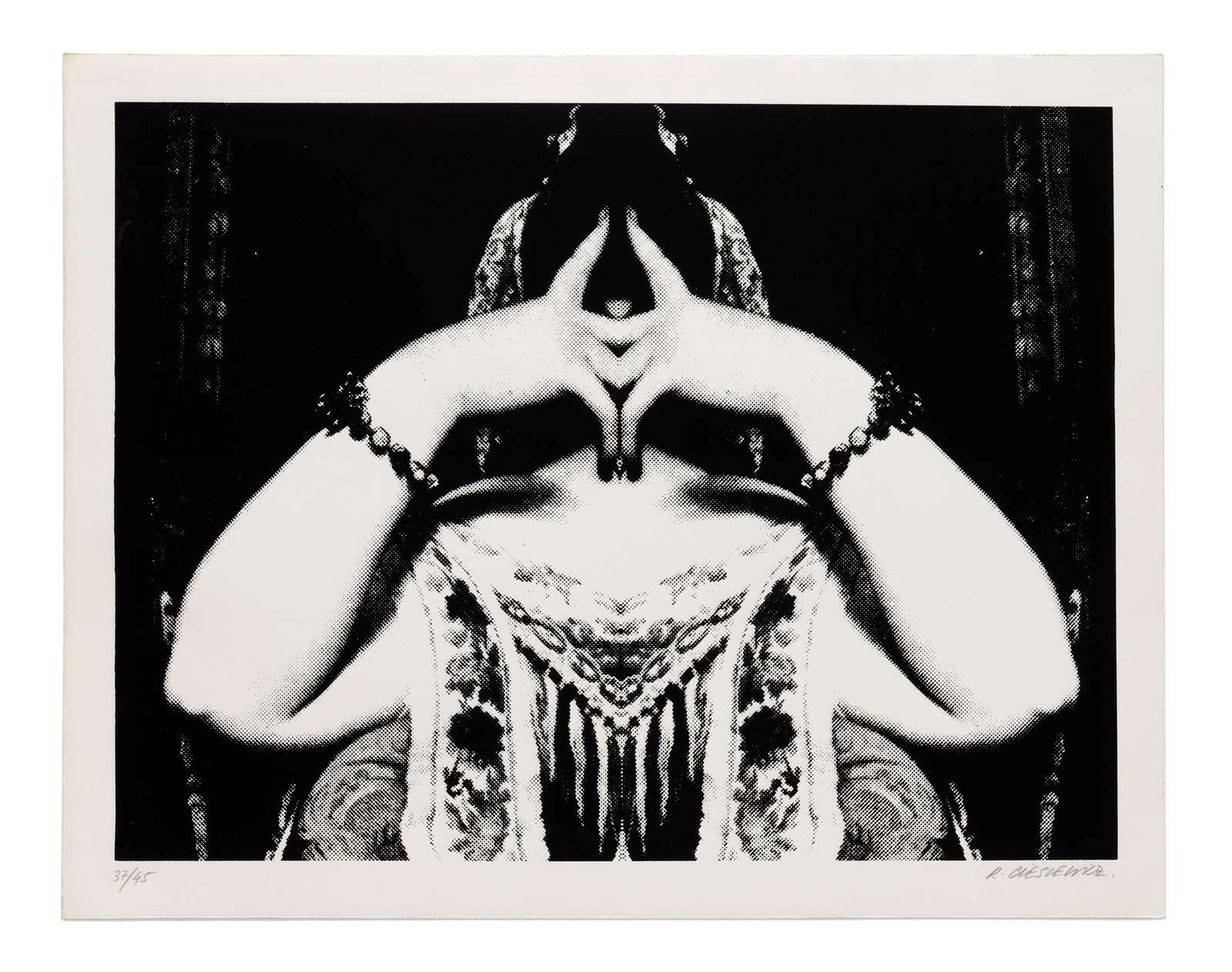 Roman Cieslewicz, Cérès Franco, 1974 Sérigraphie - Édition de 19 ex.50 x 67 cm / 19 5/8 x 26 3/8 inches