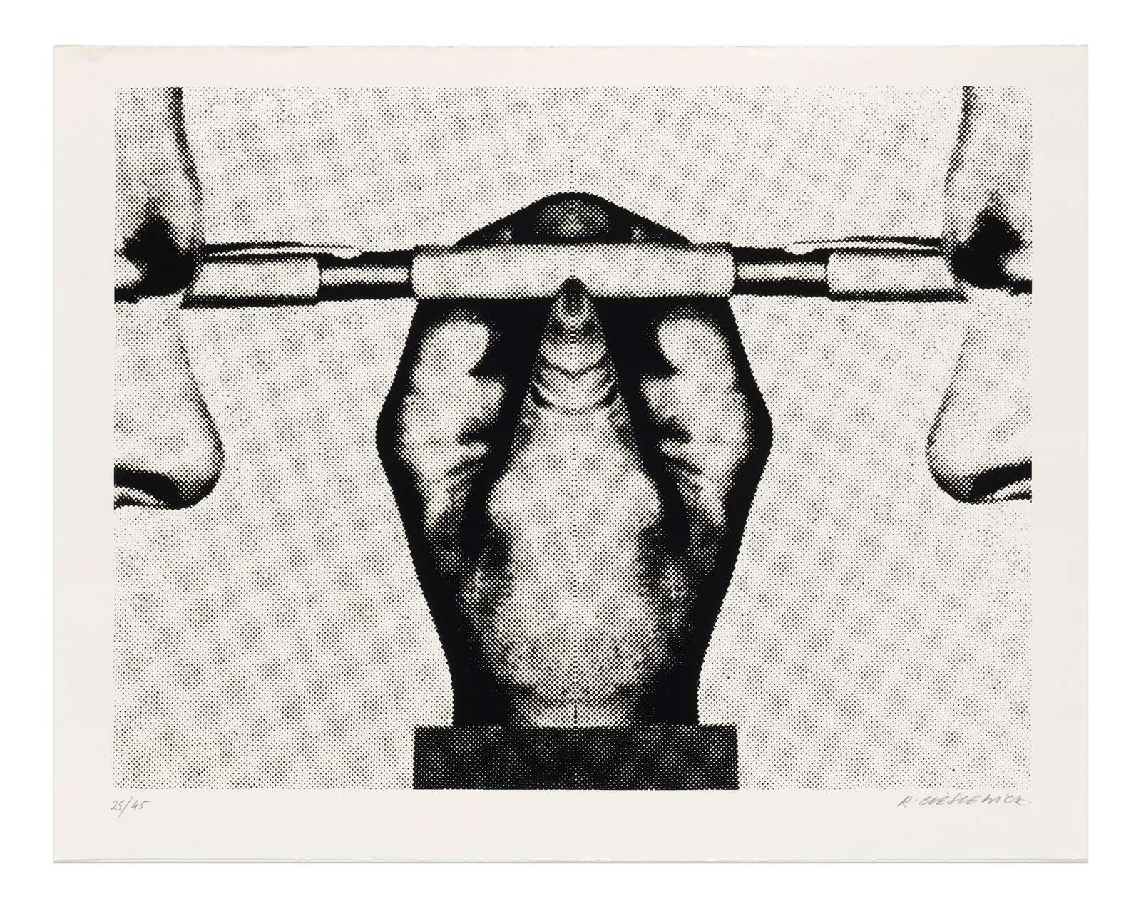 Roman Cieslewicz, Parallèle, 1974 Sérigraphie - Édition de 45 ex.50.5 x 64 cm / 19 7/8 x 25 2/8 inches