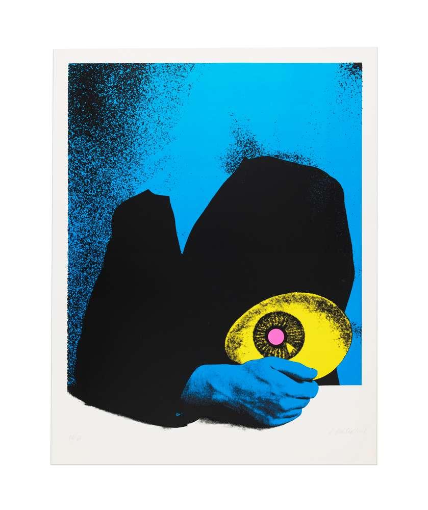 Roman Cieslewicz, L'estampe, 1976 Sérigraphie - Édition de 60 ex.82.3 x 63.5 cm / 32 3/8 x 25  inches