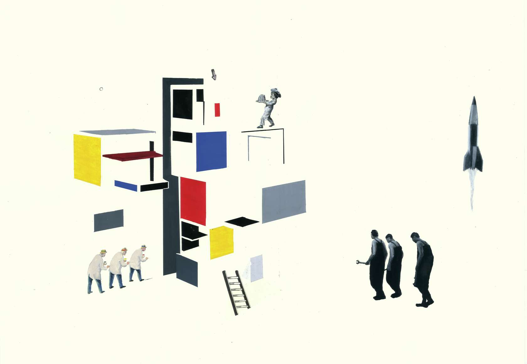 Sébastien Gouju, Sans titre, 2011 Encre, gouache et graphite sur papier42 x 60 cm / 16 1/2 x 23 5/8 inches