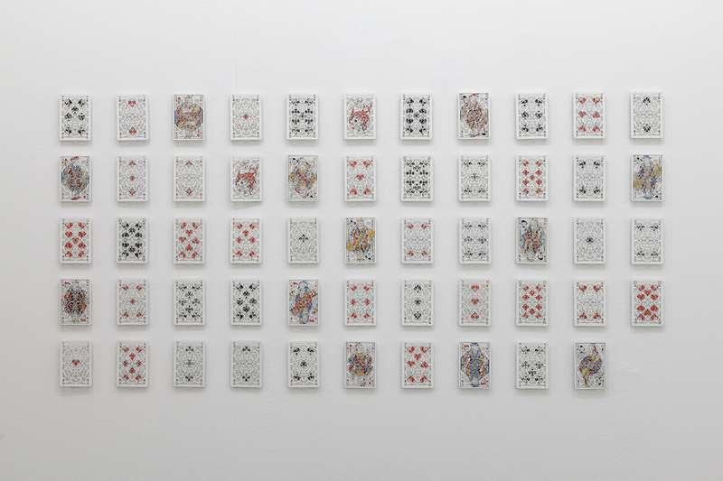 Sébastien Gouju, Parties de cartes, 2013 Inox12 x 8 cm / 4 6/8 x 3 1/8 inches