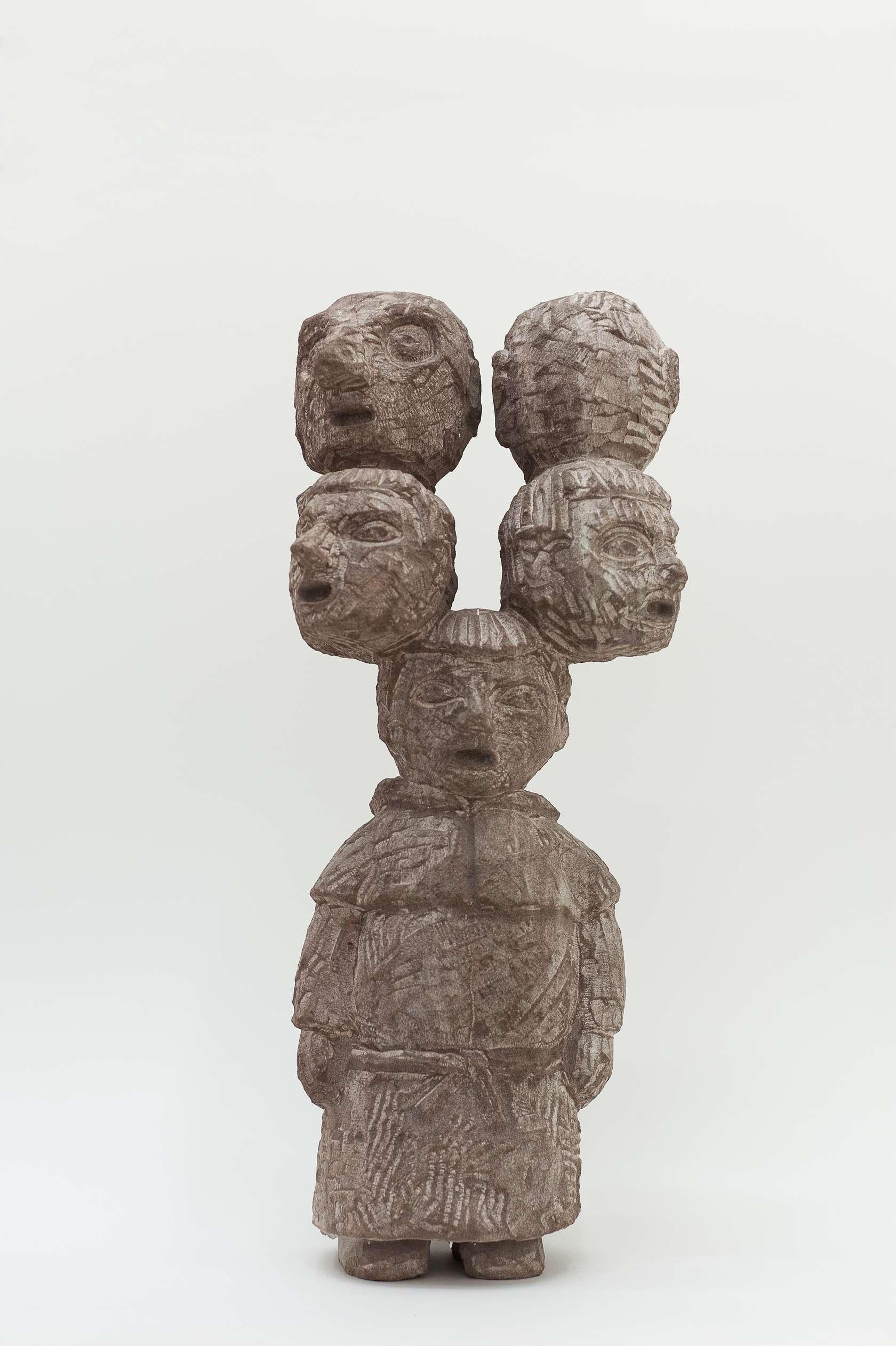 Stefan Rinck, Hydramonk, 2014 Grès50 × 20 × 15 cm / 19 5/8 × 7 7/8 × 5 7/8 in.