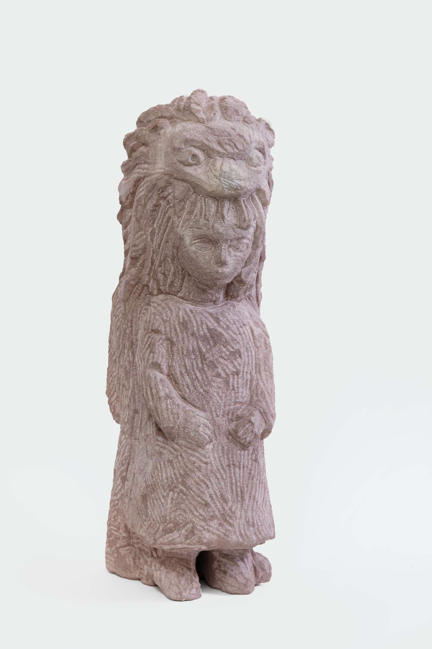 Stefan Rinck, Girl with Lioncoat, 2015 Grès42 × 18 × 15 cm / 16 1/2 × 7 1/8 × 5 7/8 in.