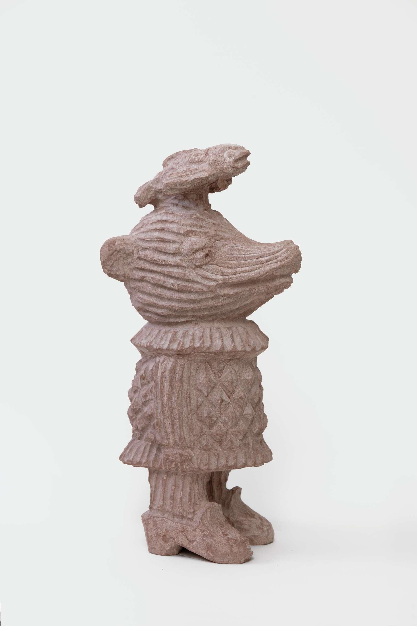 Stefan Rinck, Pescaterian, 2017 Grès44 × 19 × 14 cm / 17 3/8 × 7 1/2 × 5 1/2 in.