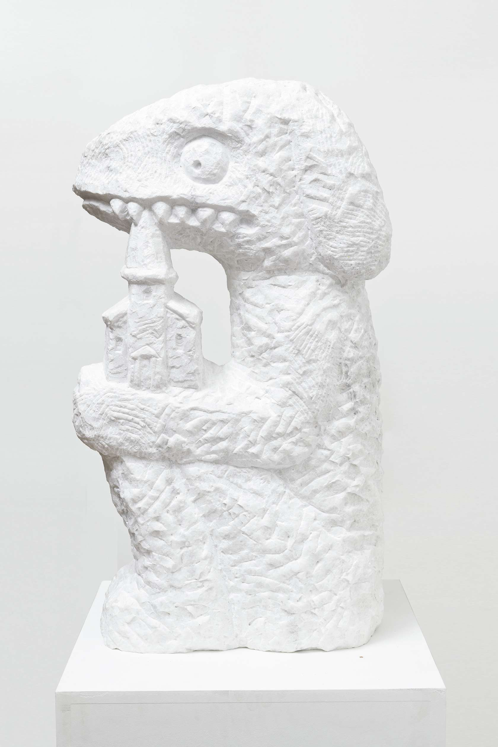 Stefan Rinck, Donor figure, 2019 Marbre80 x 45 x 25 cm / 31 1/2 x 17 6/8 x 9 7/8 inches
