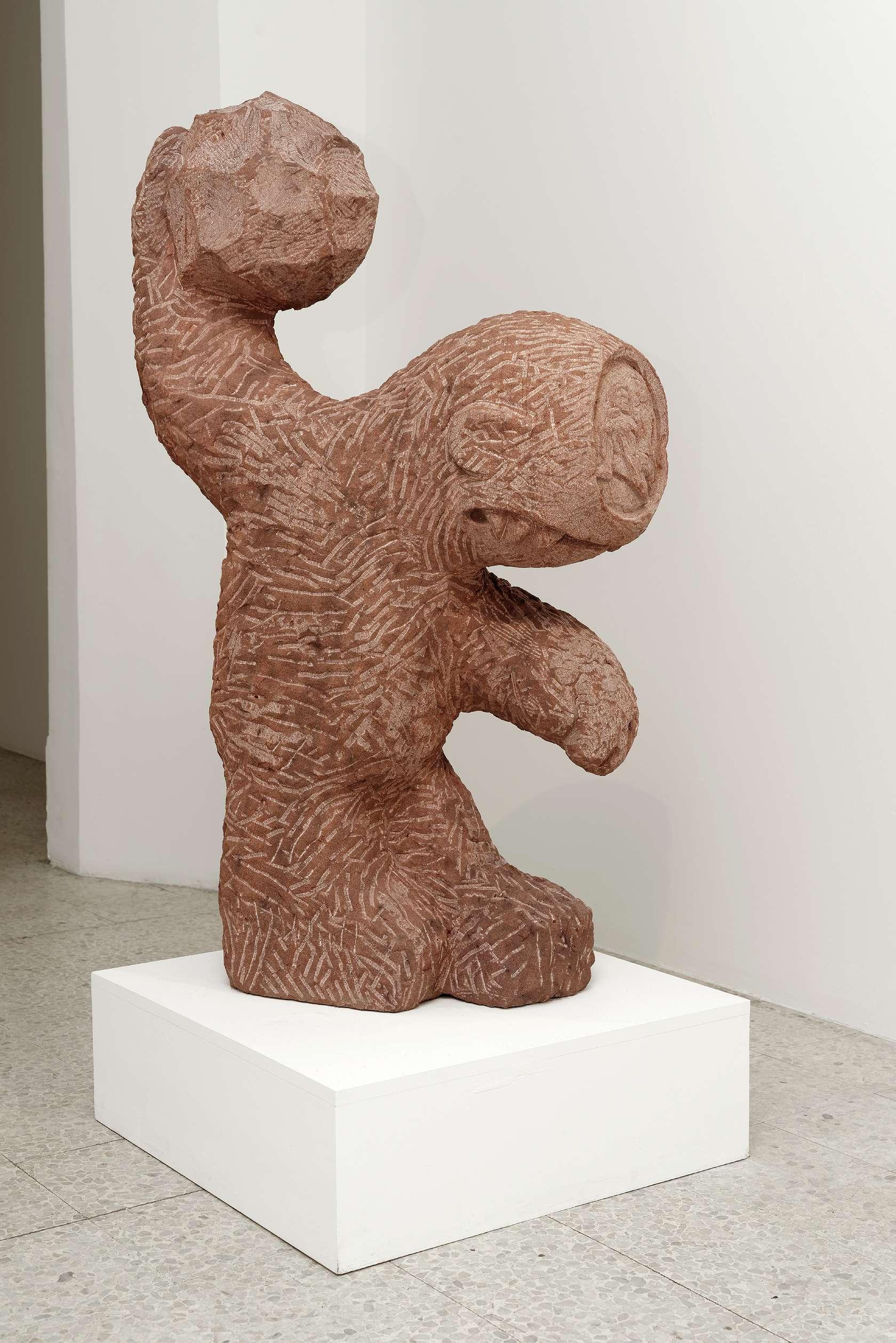 Stefan Rinck, Polyphemus, 2016 Grès120 × 70 × 35 cm / 47 2/8 × 27 1/2 × 13 6/8 in.