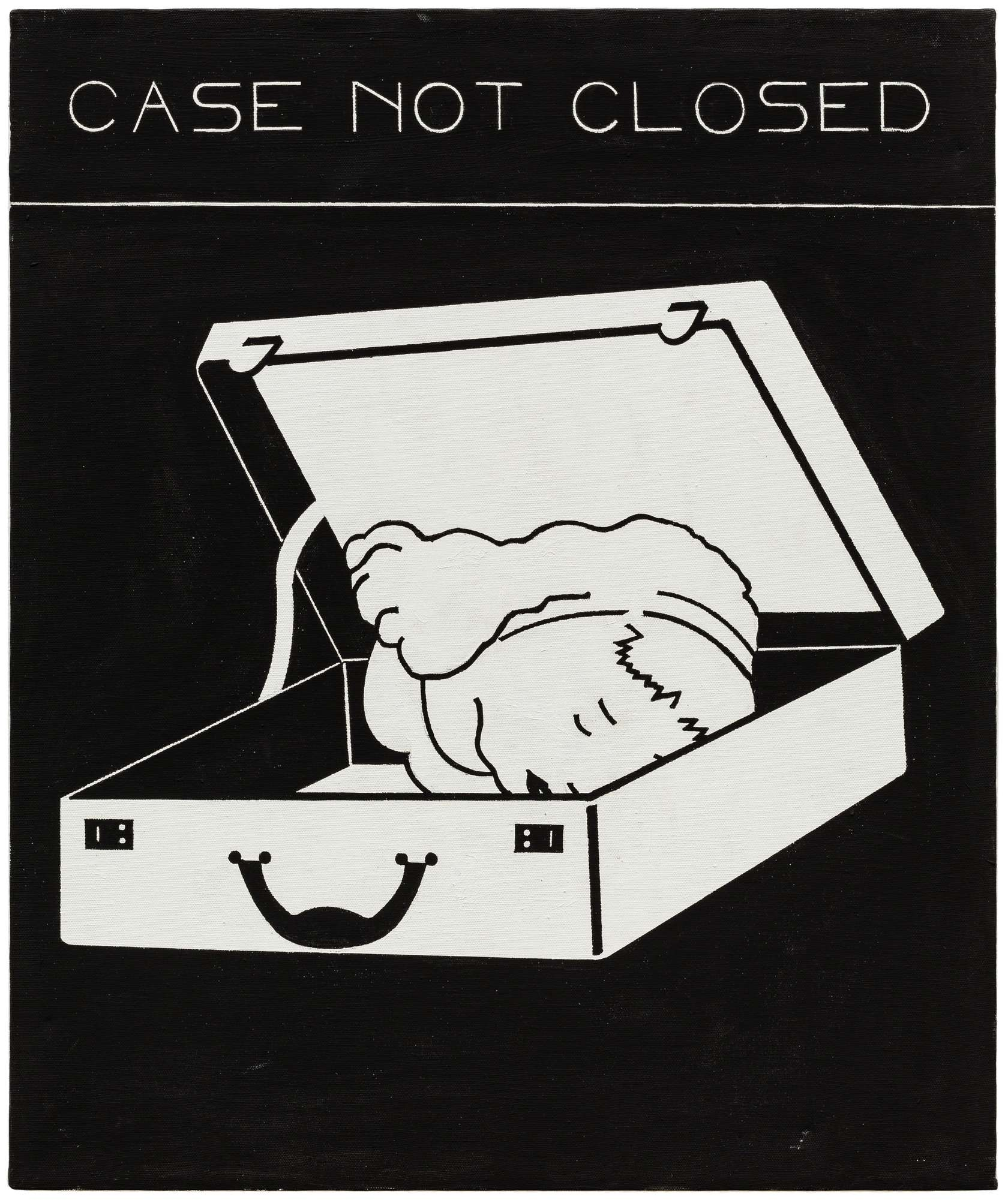 Steve Gianakos, Case not closed, 1980 Acrylique sur toile61 x 50 cm / 24  x 19 5/8 inches
