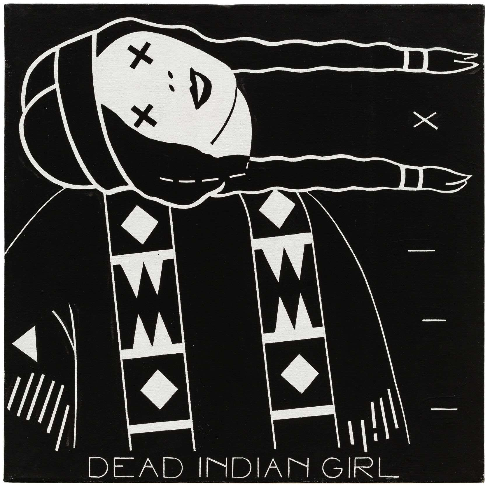 Steve Gianakos, Dead Indian girl, 1982 Acrylique sur toile61.5 x 61 cm / 24 2/8 x 24  inches