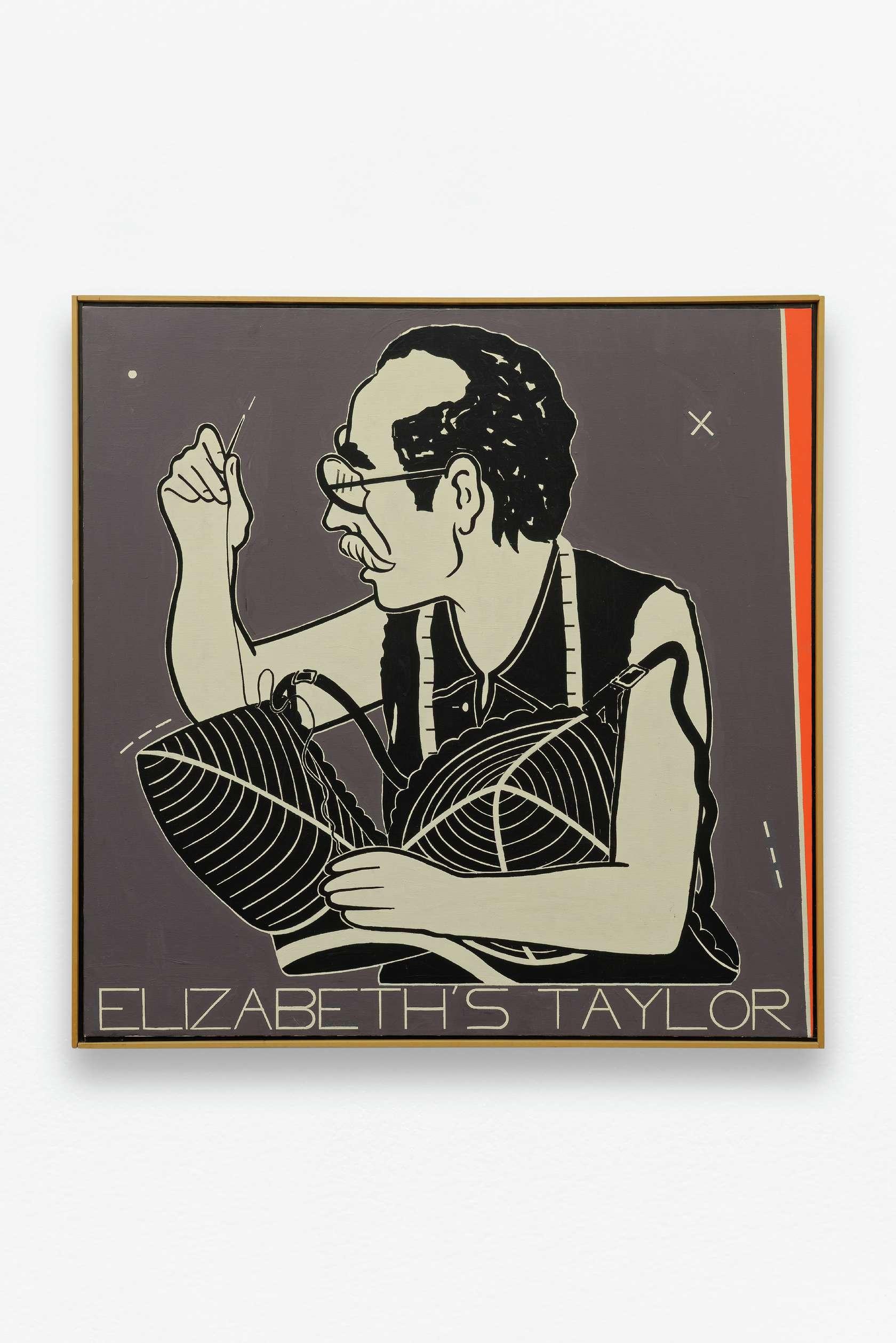Steve Gianakos, Elizabeth's Taylor, 1985 Huile sur toile91.4 x 91.4 cm / 36  x 36  inches