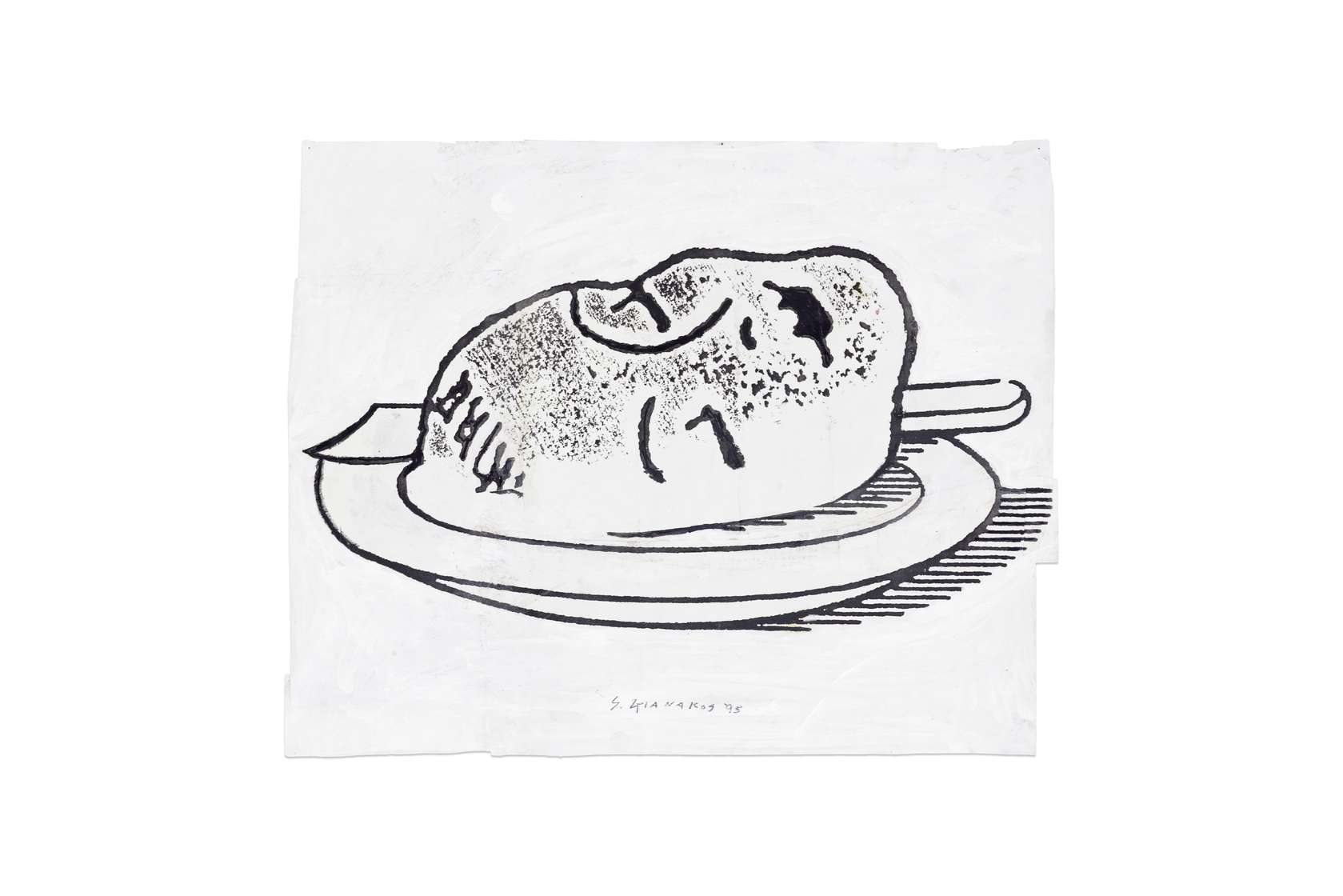 Steve Gianakos, Her appetite was irrelevant, 1995 Techniques mixtes sur papier40.5 x 50.5 cm / 16  x 19 7/8 inches