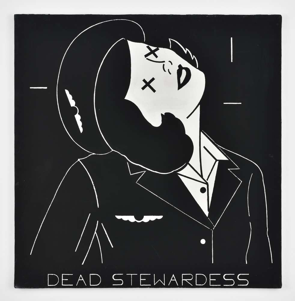 Steve Gianakos, Dead stewardess, 1981 Acrylique sur toile61 x 61 cm / 24  x 24  inches