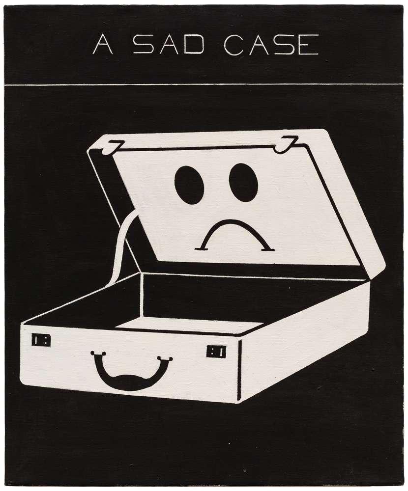 Steve Gianakos, A sad case, 1980 Acrylique sur toile61 x 50.5 cm / 24  x 19 7/8 inches