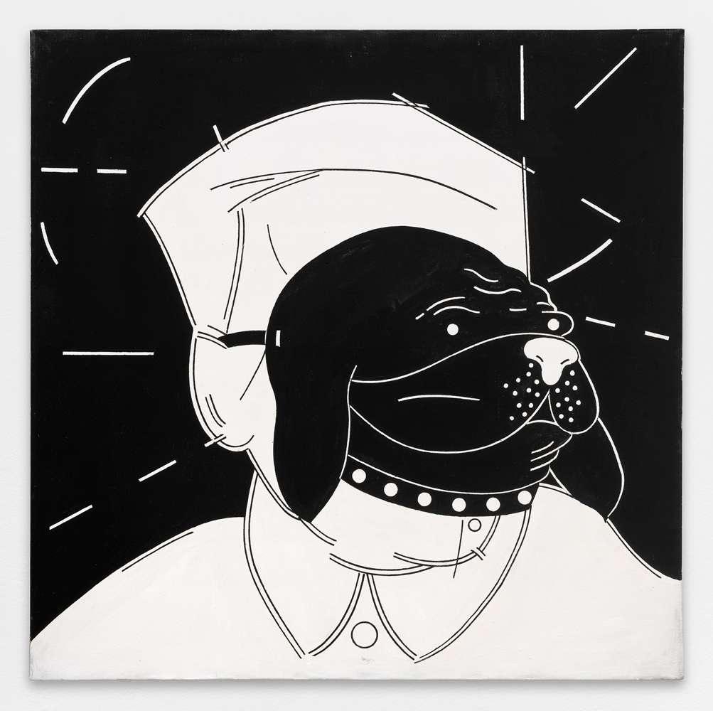 Steve Gianakos, Mao, 1980 Acrylique sur toile90 x 90 cm / 35 3/8 x 35 3/8 inches