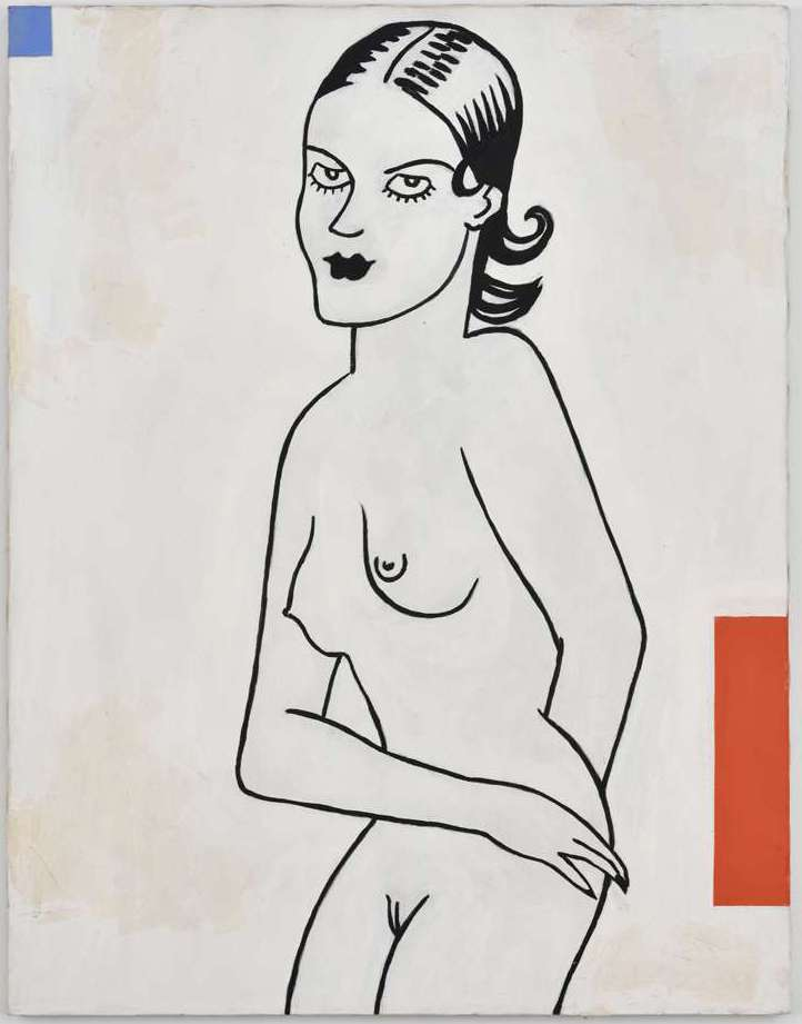 Steve Gianakos, She dreamed of meeting a good looking volleyball player, 1994 Acrylique sur toile71 x 56 cm / 28  x 22  inches