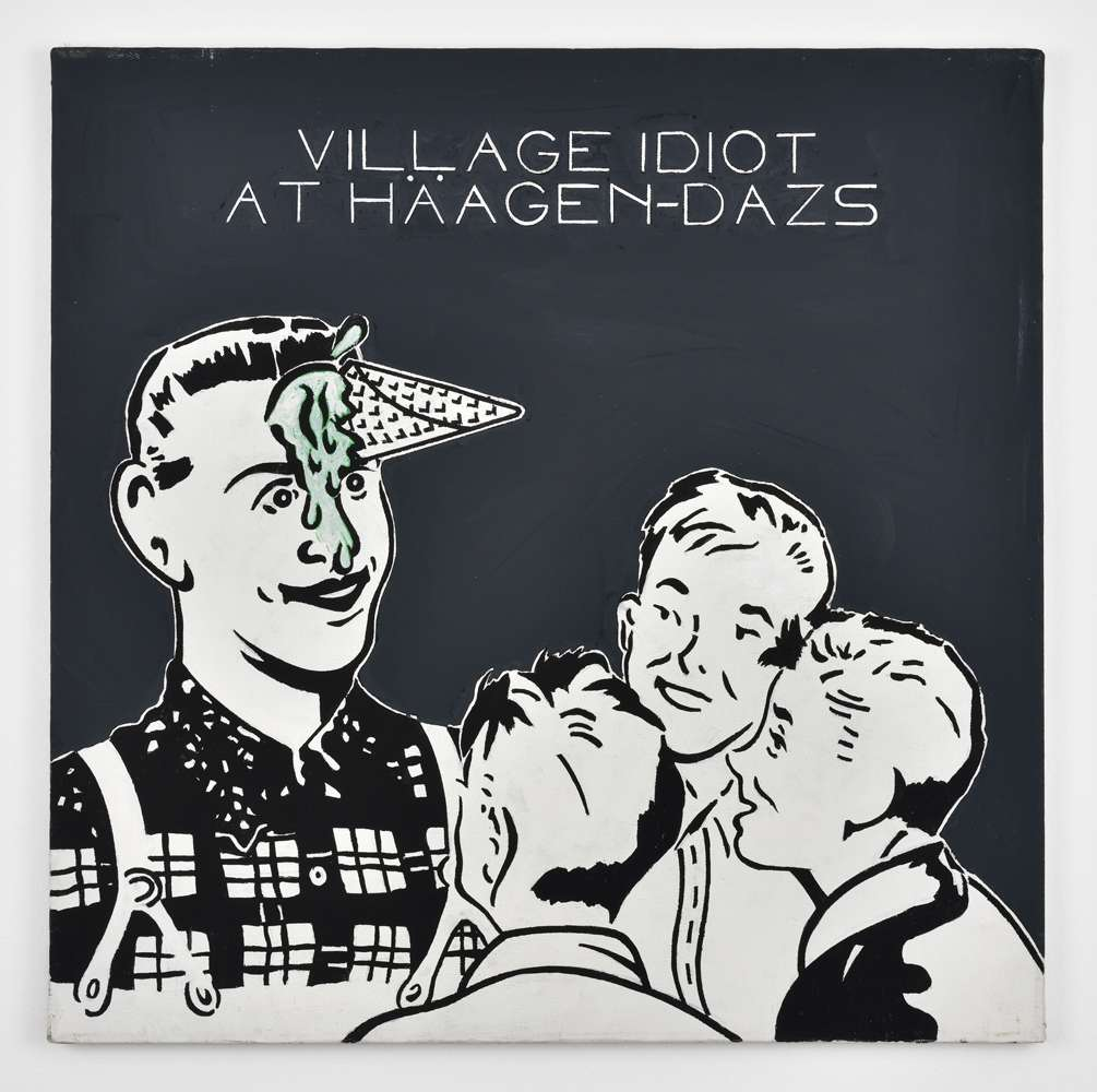 Steve Gianakos, Village Idiot at Häagen Dazs, 1984 Acrylique sur toile61 x 61 cm / 24  x 24  inches