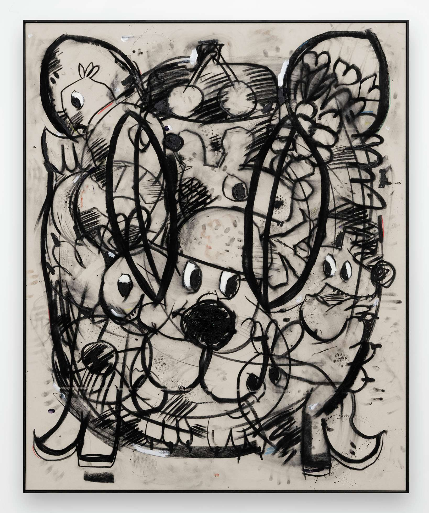 Szabolcs Bozó, Daisy, 2020 Fusain, acrylique et pastel sur toile160 × 130 cm / 63  × 51 1/8 in.