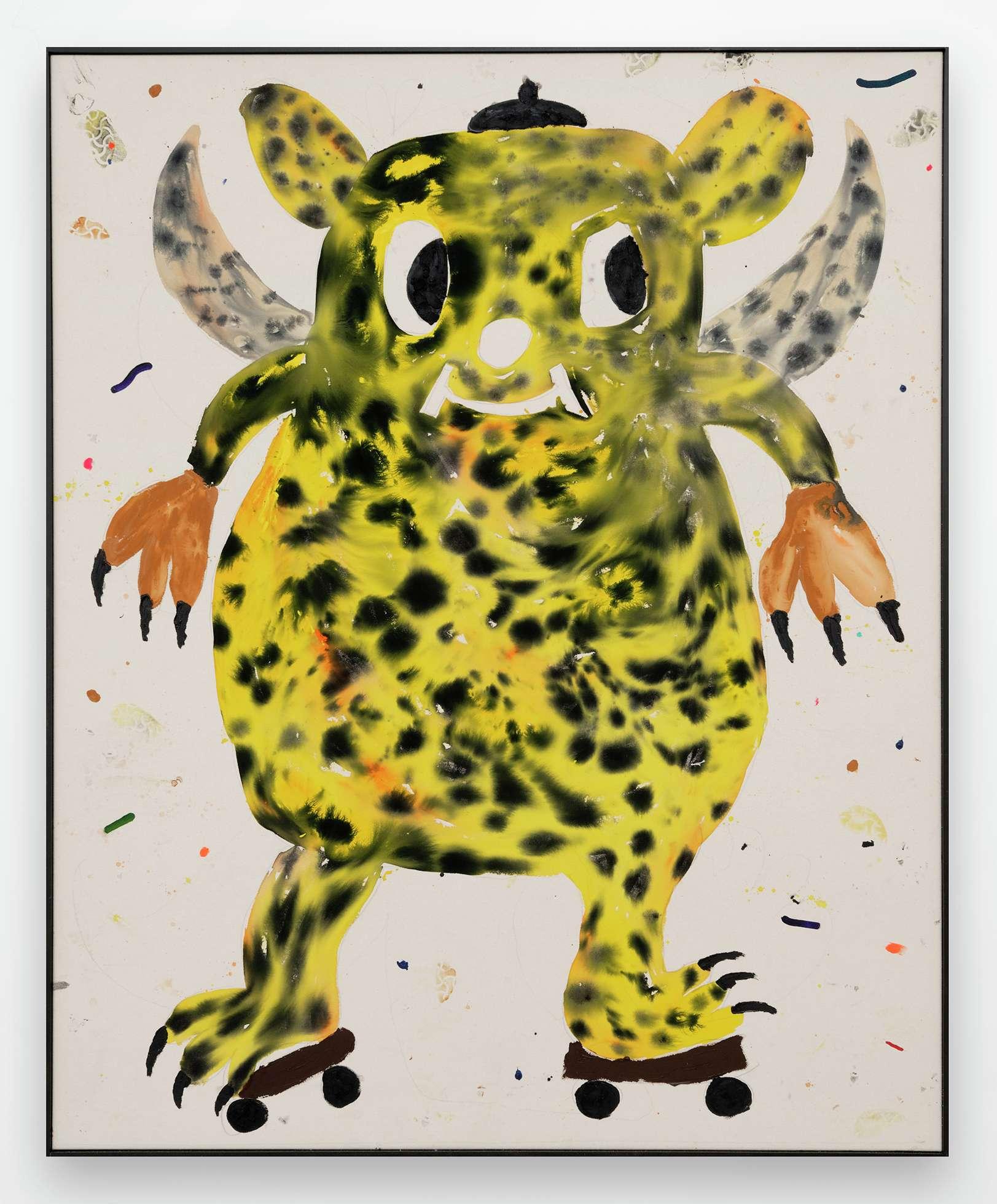 Szabolcs Bozó, Voodoo Child, 2020 Acrylique, encre et pastel sur toile160 × 130 cm / 63  × 51 1/8 in.