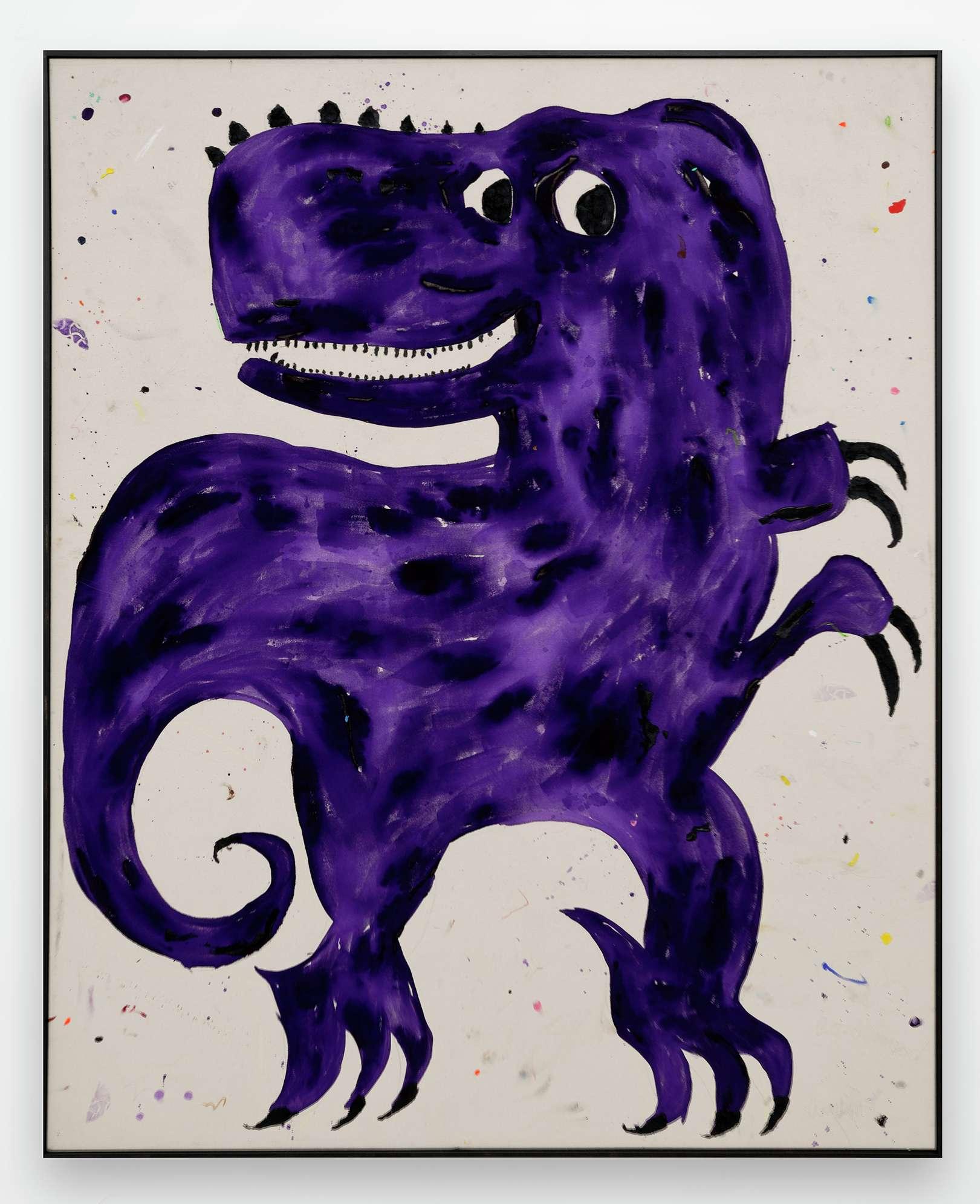 Szabolcs Bozó, I'm a Dino, 2020 Acrylique et pastel sur toile160 × 130 cm / 63  × 51 1/8 in.