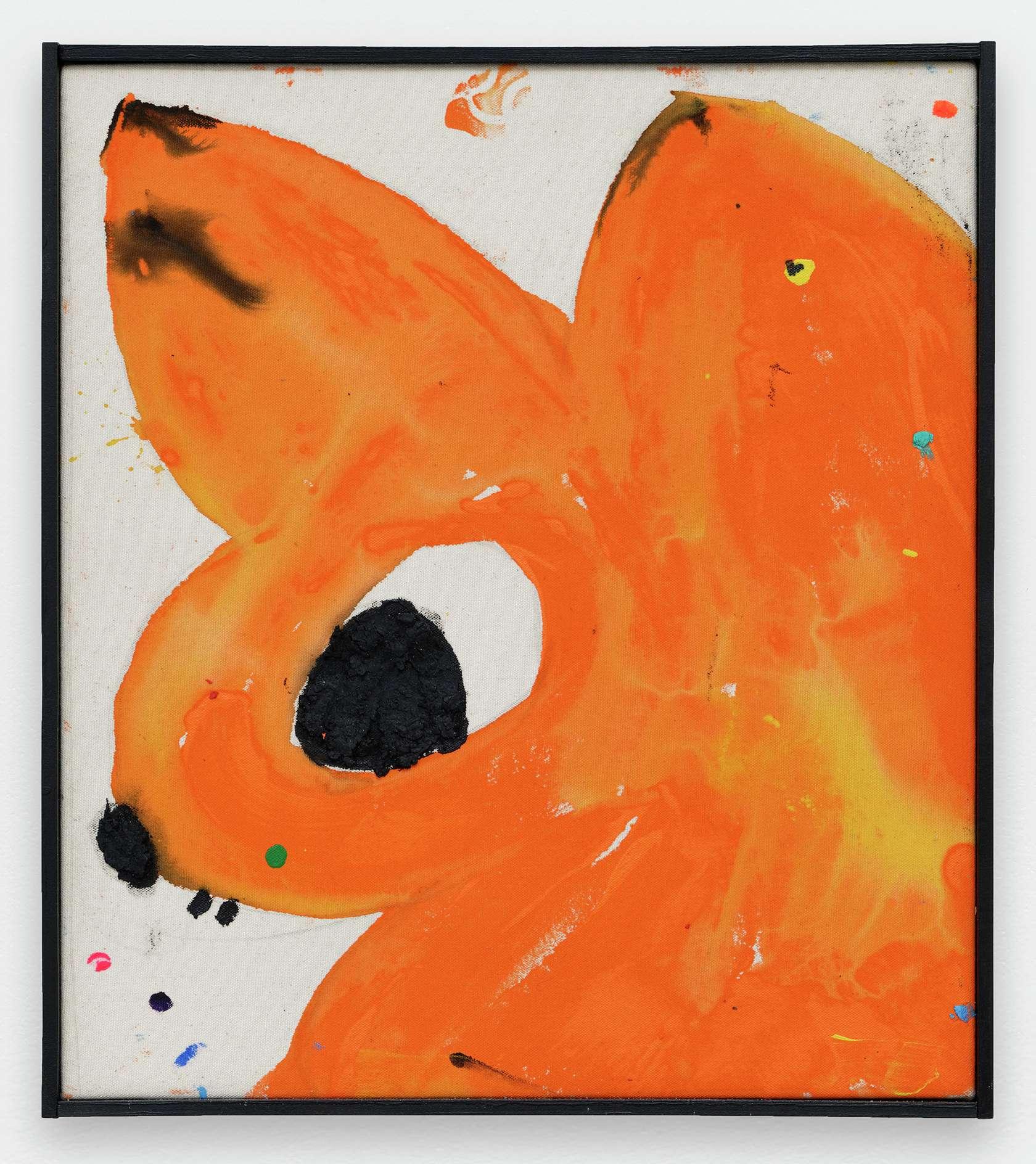 Szabolcs Bozó, Mr. Rat, 2020 Acrylique, encre et pastel sur toile50 × 40 cm / 19 5/8 × 15 3/4 in.