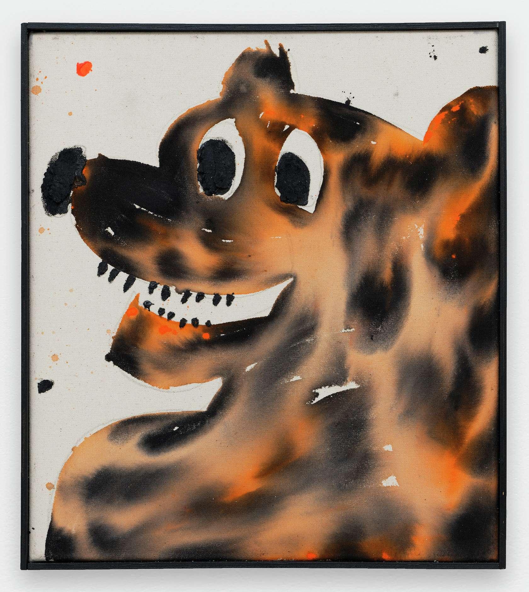 Szabolcs Bozó, Eddy, 2020 Acrylique, encre et pastel sur toile50 × 40 cm / 19 5/8 × 15 3/4 in.