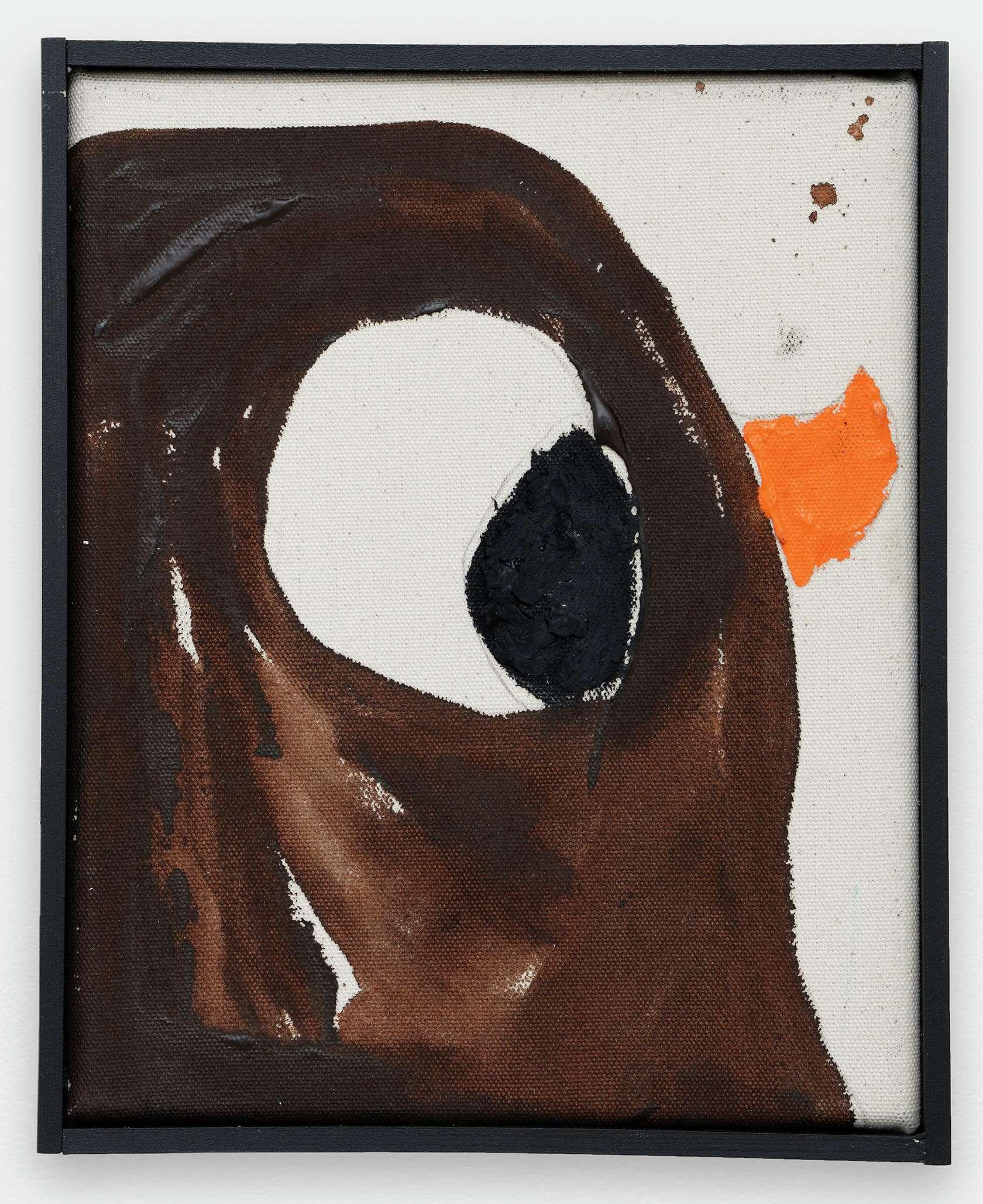 Szabolcs Bozó, James, 2020 Acrylique et pastel sur toile25 × 20 cm / 9 7/8 × 7 7/8 in.