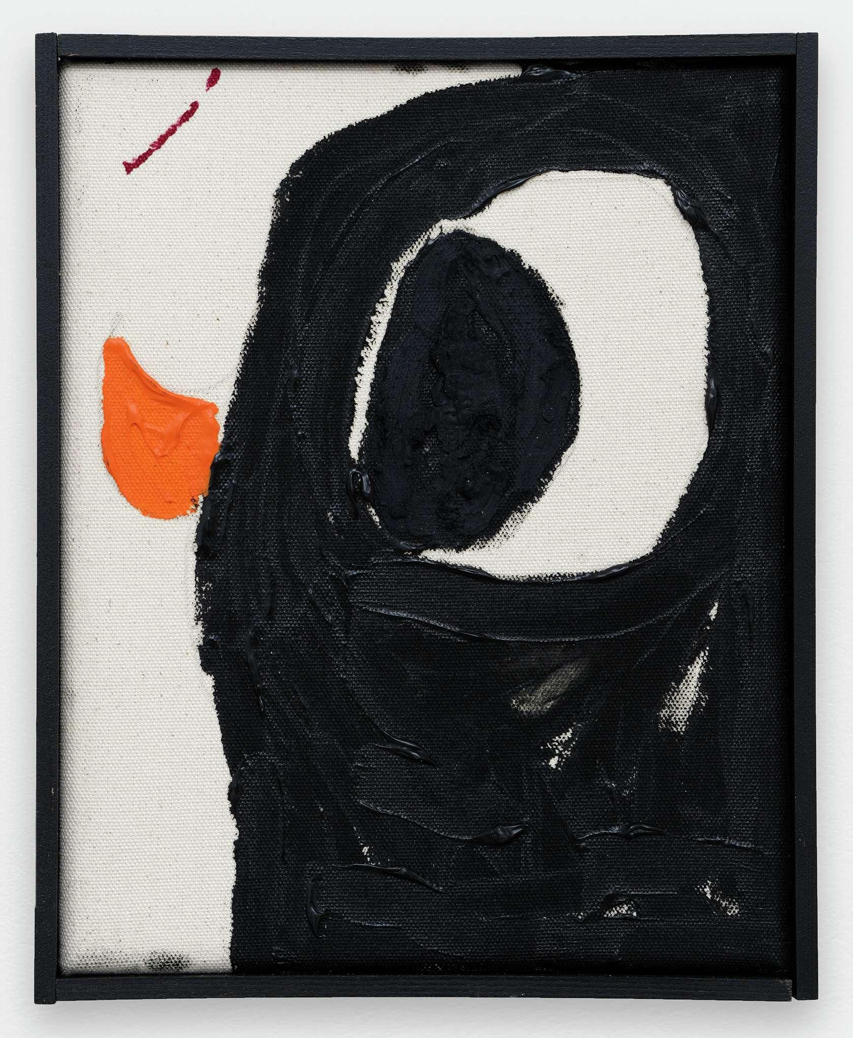 Szabolcs Bozó, Adam, 2020 Acrylique et pastel sur toile25 × 20 cm / 9 7/8 × 7 7/8 in.