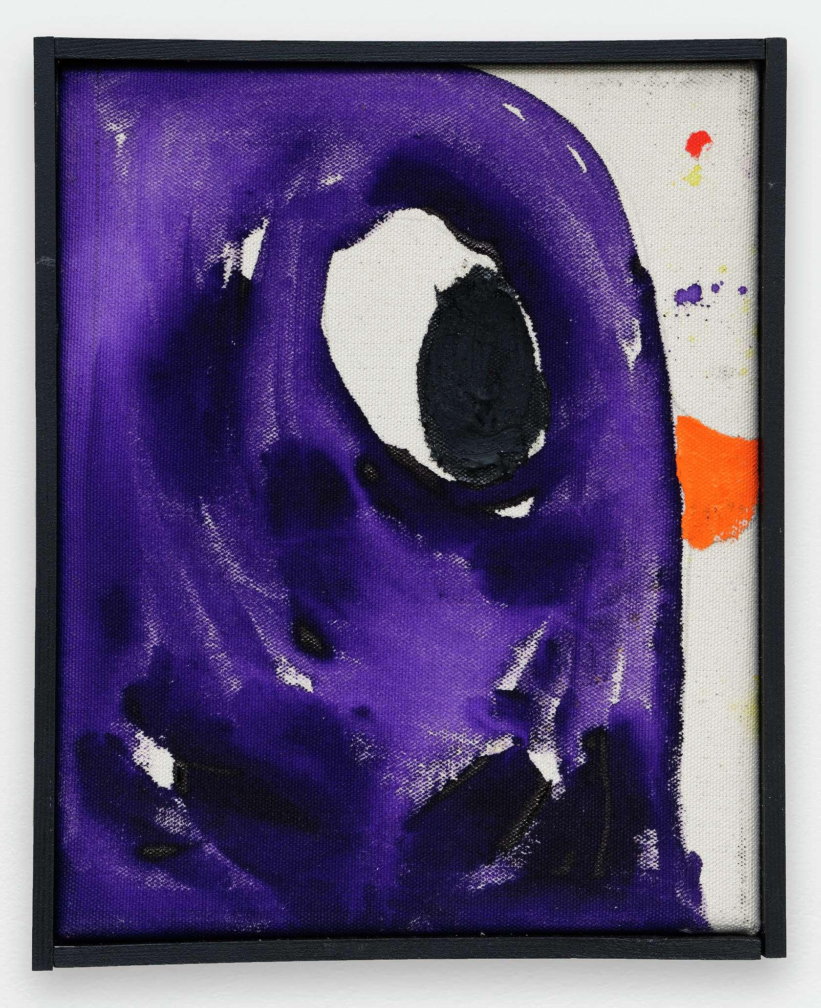 Szabolcs Bozó, Donald, 2020 Acrylique et pastel sur toile25 × 20 cm / 9 7/8 × 7 7/8 in.