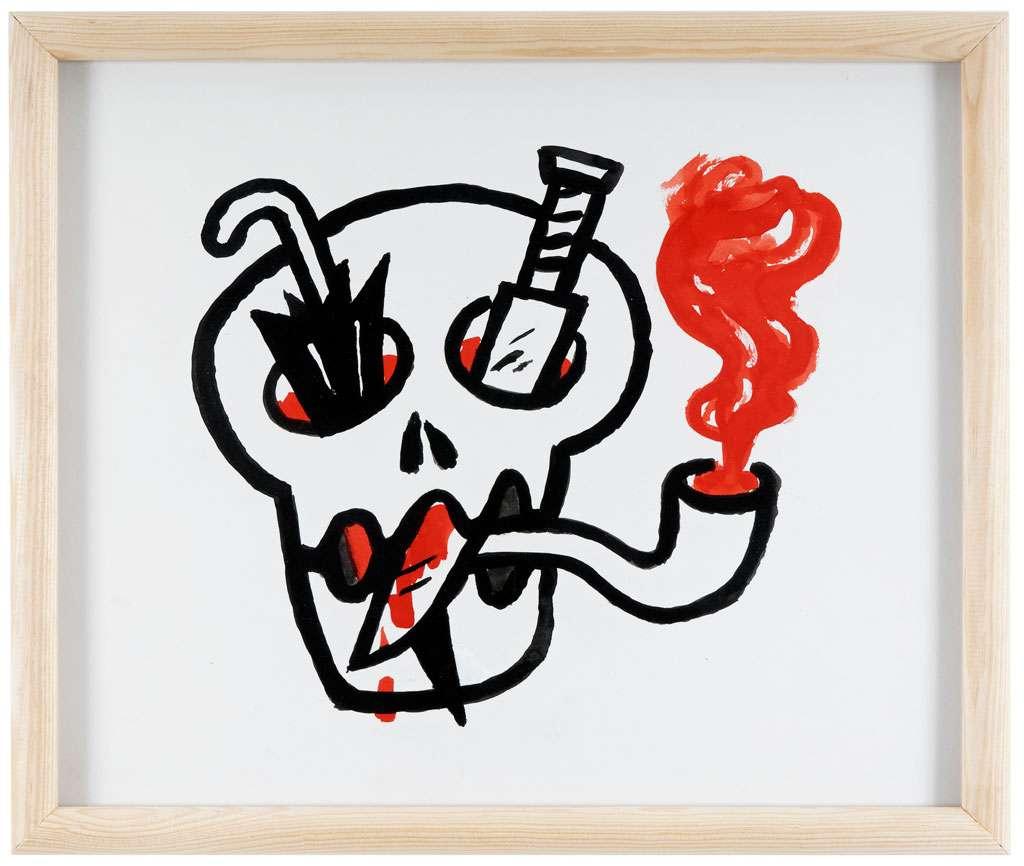 Taroop & Glabel, À Mike Diana, 1998 Encre de chine sur papier42 x 55 cm / 16 1/2 x 21 5/8 inches
