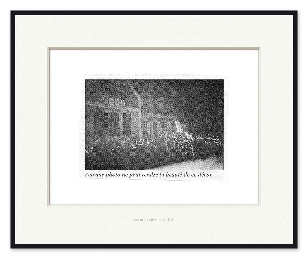Taroop & Glabel, Les belles images de T&G: Aucune photo ne peux rendre la beauté de ce décor., 2009 Impression pigmentaire47 x 57 cm / 18 1/2 x 22 1/2 inches
