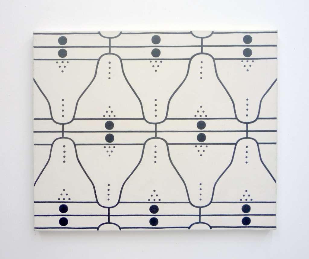 Taroop & Glabel, Sobrement décoratif, 1991 Acrylique sur toile38 x 46 cm / 15  x 18 1/8 inches
