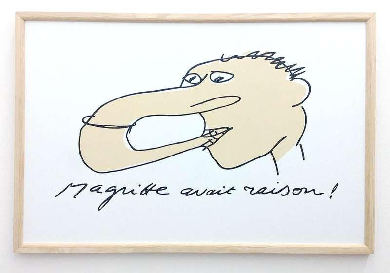 Taroop & Glabel, Magritte avait raison, 2003 Vénalyne sur contreplaqué60 x 90 cm / 23 5/8 x 35 3/8 inches