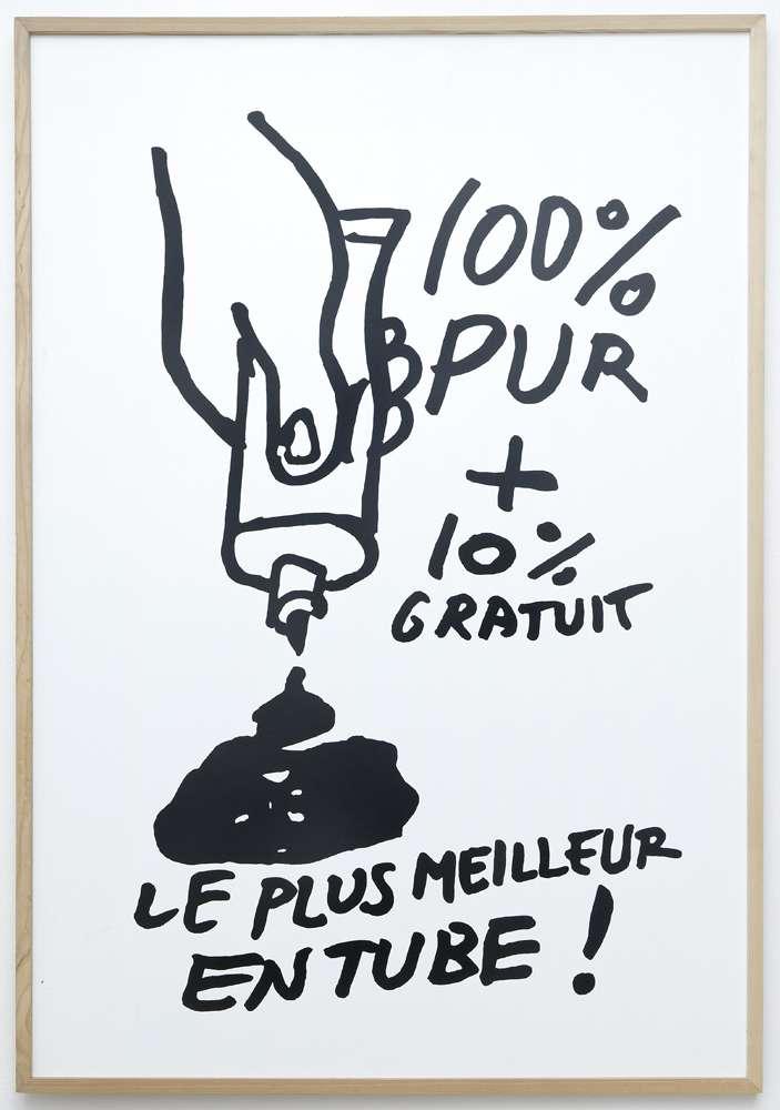 Taroop & Glabel, 100% Pur, 2005 Vénalyne sur contreplaqué130 x 90 cm / 51 1/8 x 35 3/8 inches