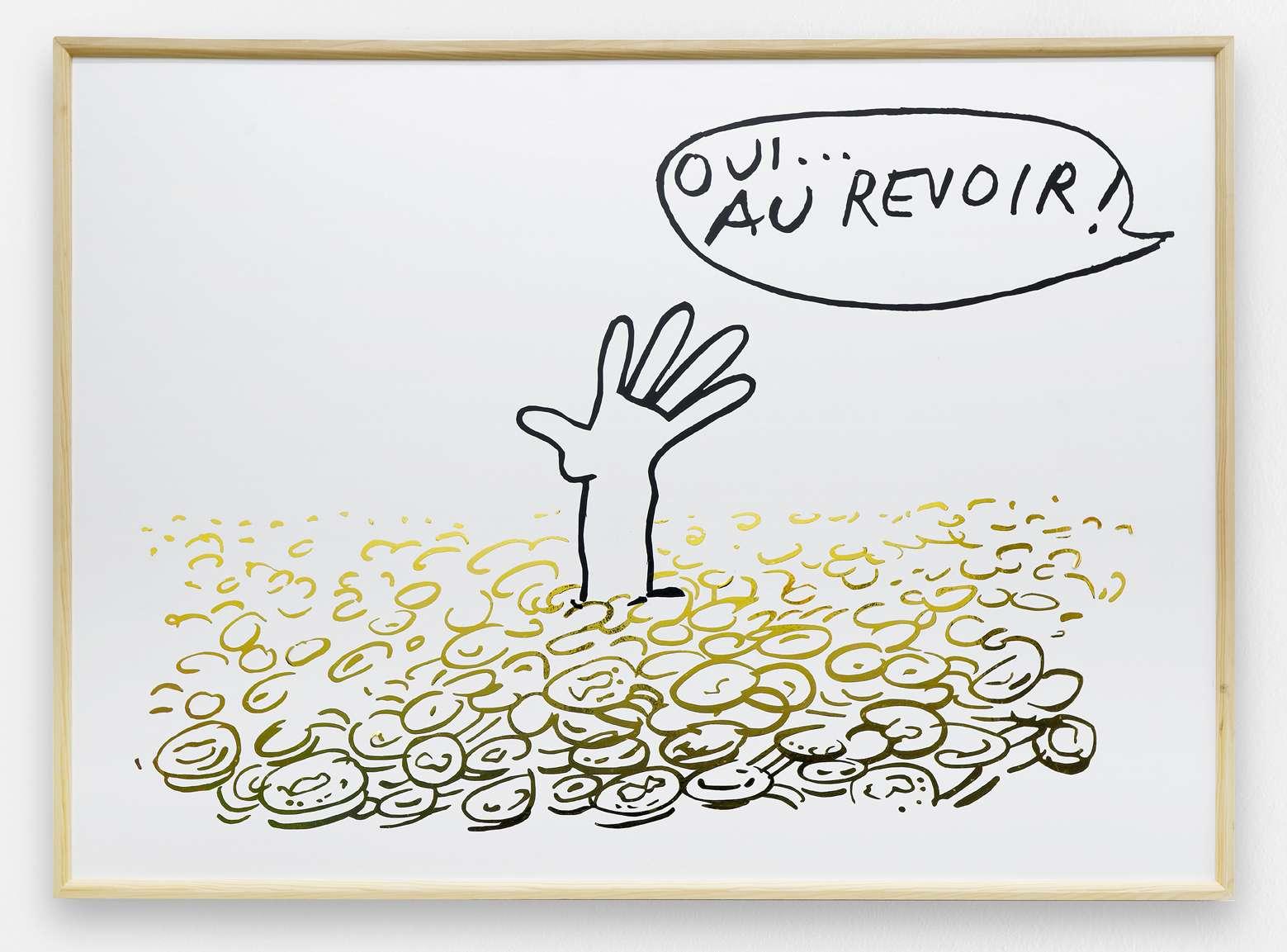 Taroop & Glabel, Au revoir, 2006 Vénalyne sur contreplaqué90 x 130 cm / 35 3/8 x 51 1/8 inches