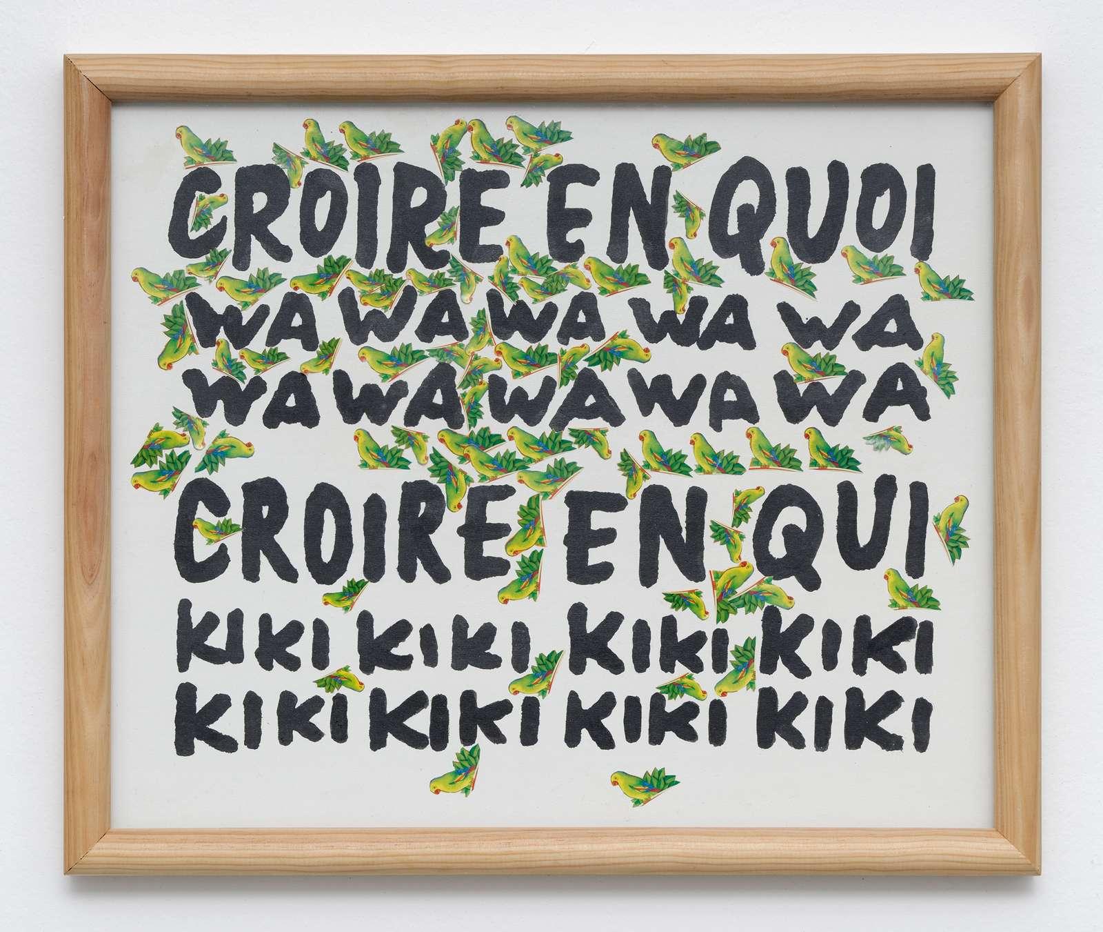 Taroop & Glabel, Croire en quoi, 2009 Collage sur papier47.5 x 56.5 cm / 18 6/8 x 22 2/8 inches
