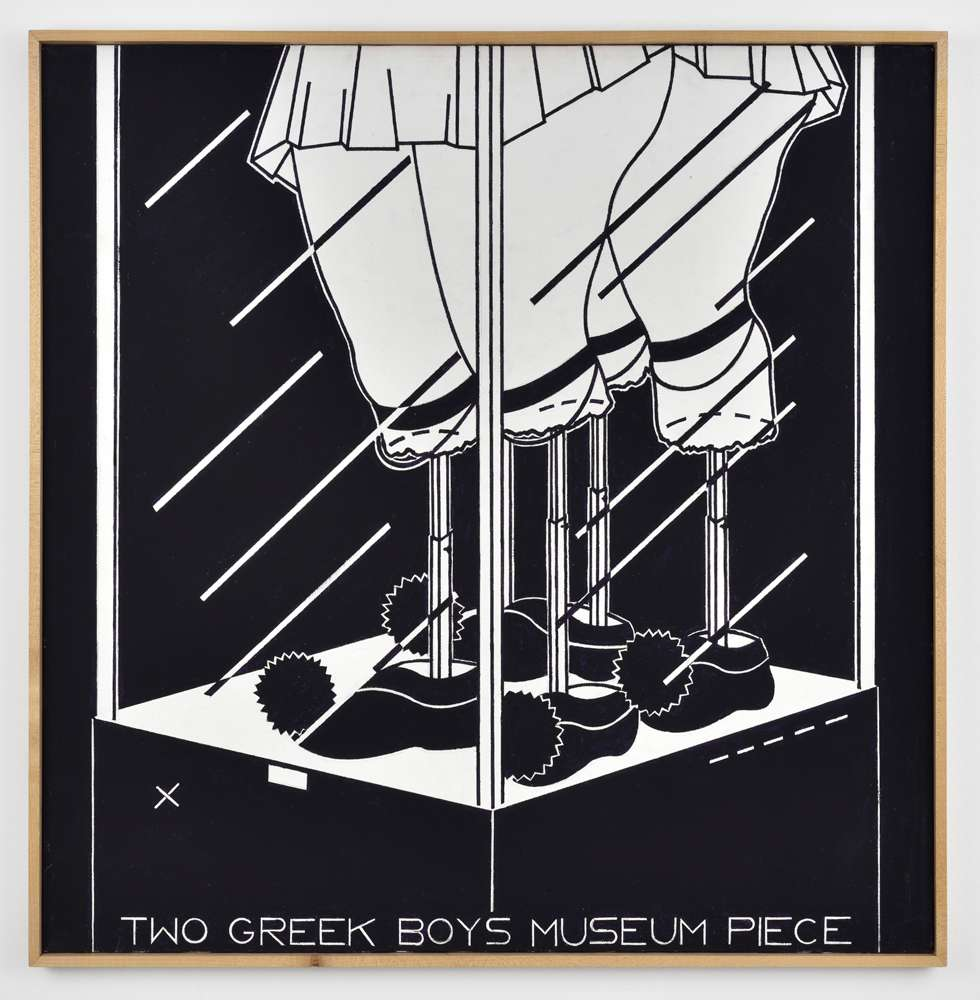 Steve Gianakos, Greek Mythology Part I (Two Greek Boys Museum Piece), 1983