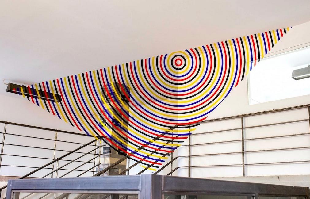 Felice Varini Rooftop playground Michael Fuchs Galerie, Berlin (DE) 25 septembre  — 26 octobre 2018