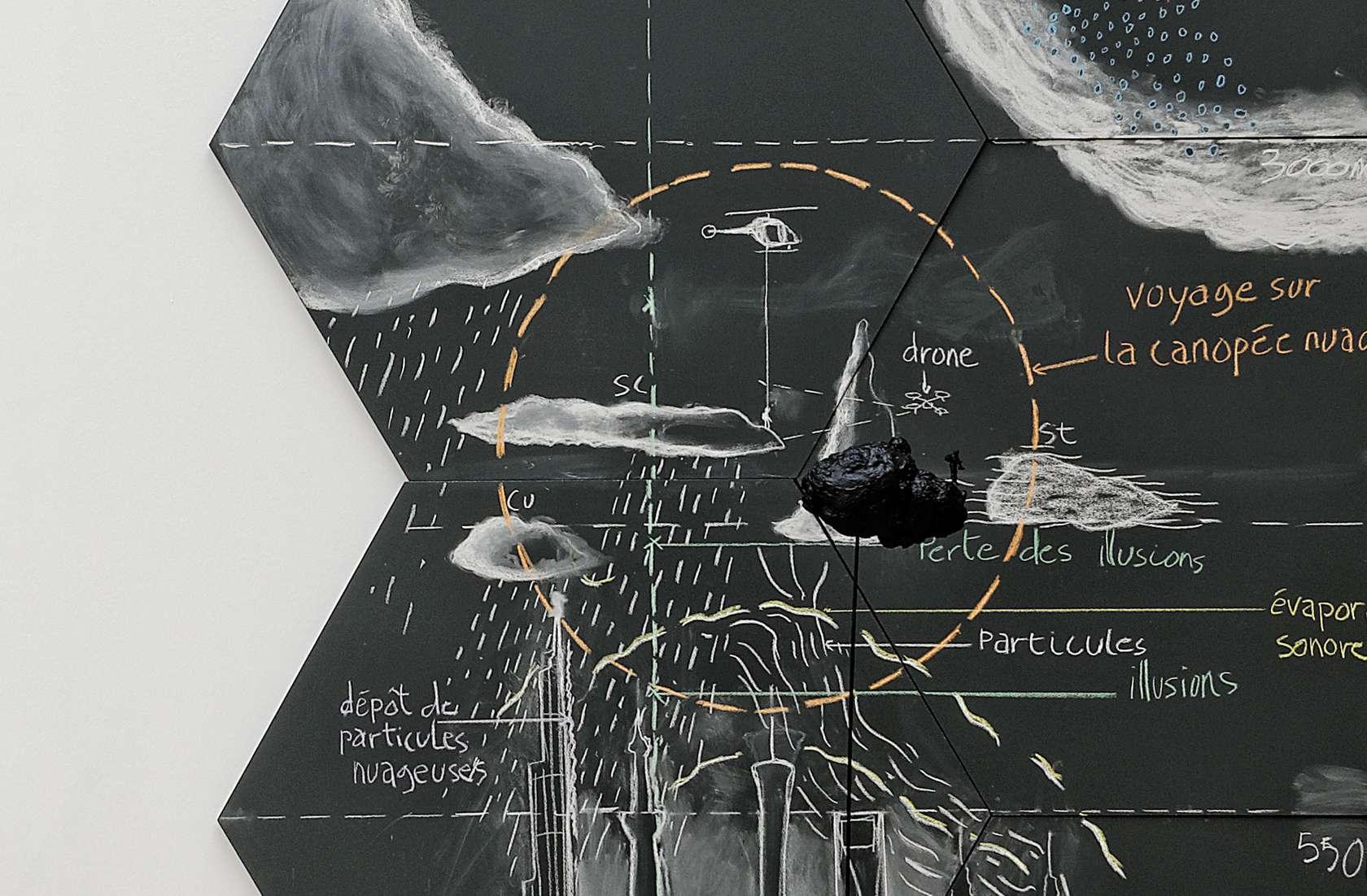 Abraham Poincheval, Étude pour marcher sur la canopée nuageuse, 2015 Des marches, démarches, FRAC Paca, Marseille (FR) 2 février - 10 mai 2020
