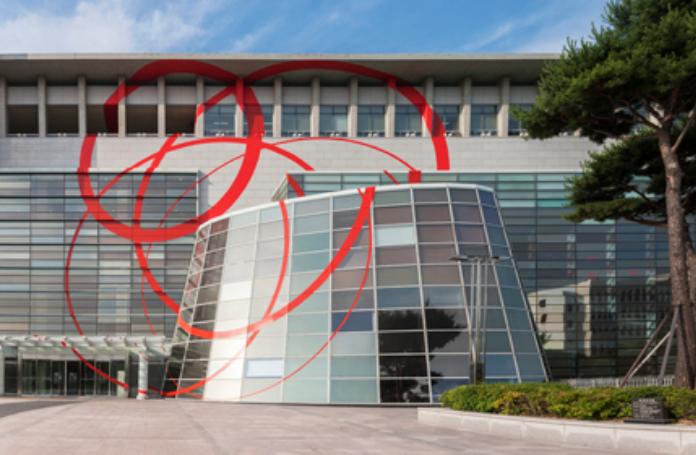 Felice Varini Collision and Respreading of Lines Gyeongnam Art Museum, Changwon City (KR) 31 mai  — 19 août 2018
