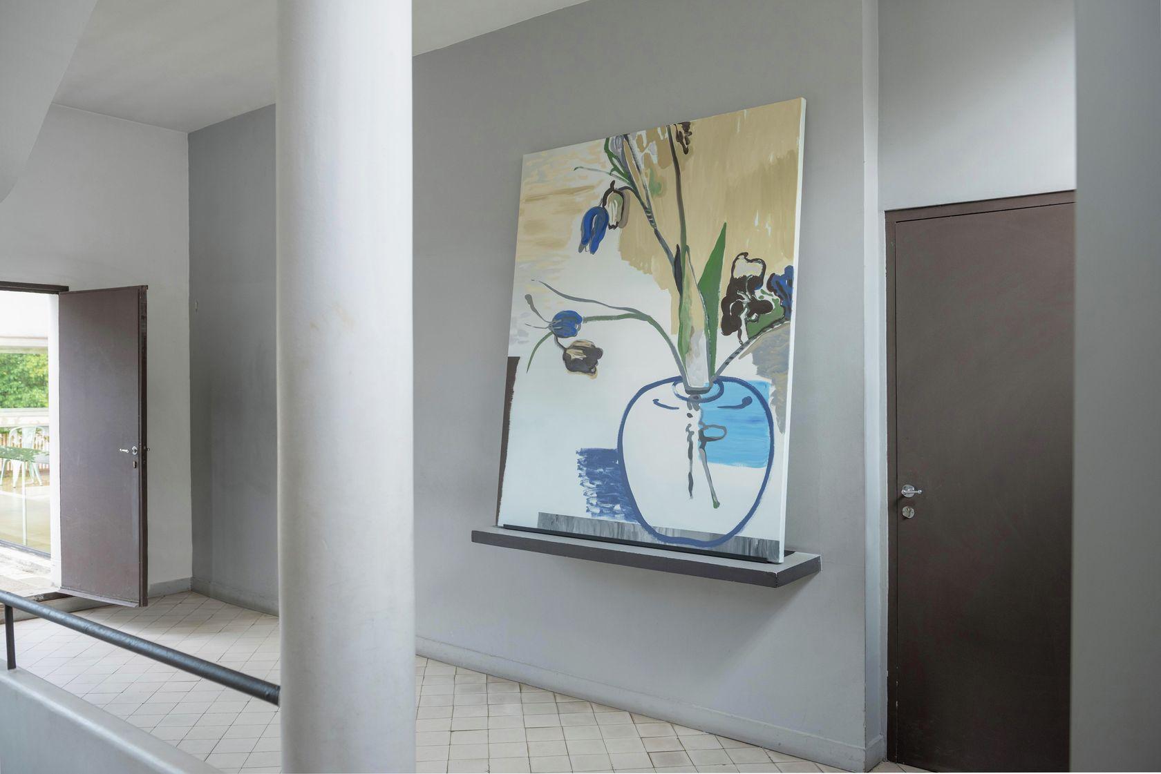 Françoise Pétrovitch, Bouquet pour Eugénie, 2019 Habiter la Villa, Villa Savoye, Poissy (FR) 18 septembre 2020 - 24 janvier 2021 © Hervé Plumet