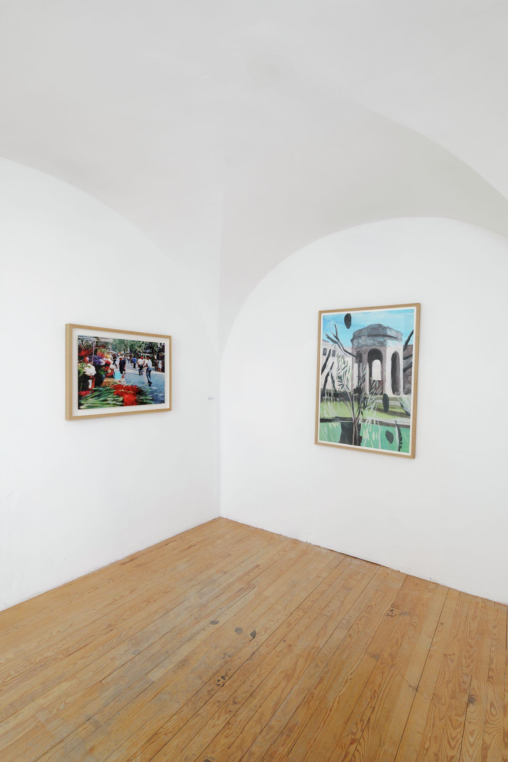 documentation céline duval, Vu! Rambla de las Flores,2015 Un goût de vacances, Abbaye Saint-André, Centre d'Art Contemporain, Meymac (FR) July 10 - October 17, 2021 © A. Mole